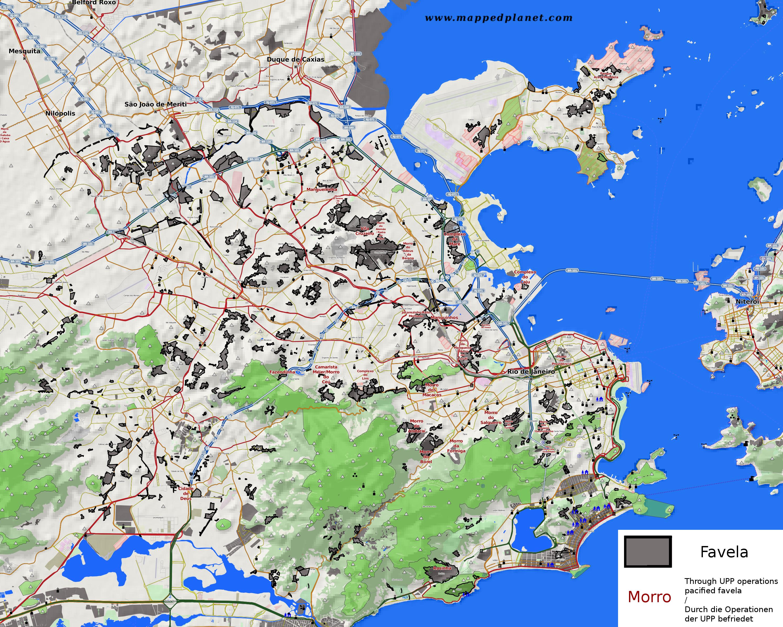 Rio De Janeiro Karte.Thematic Maps And City Maps Population