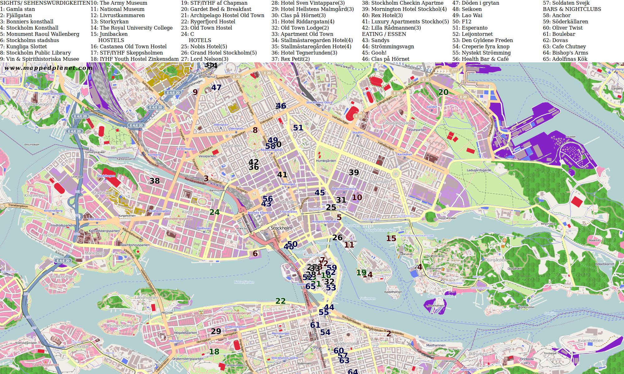 city maps stockholm. Black Bedroom Furniture Sets. Home Design Ideas