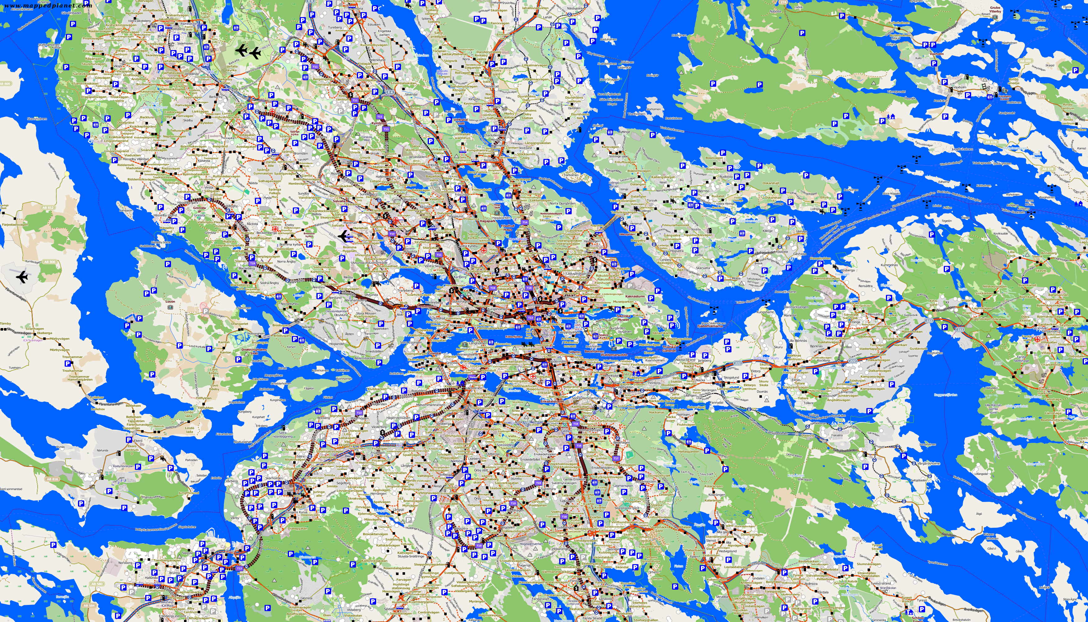 City maps Stockholm Map Of Stockholm on