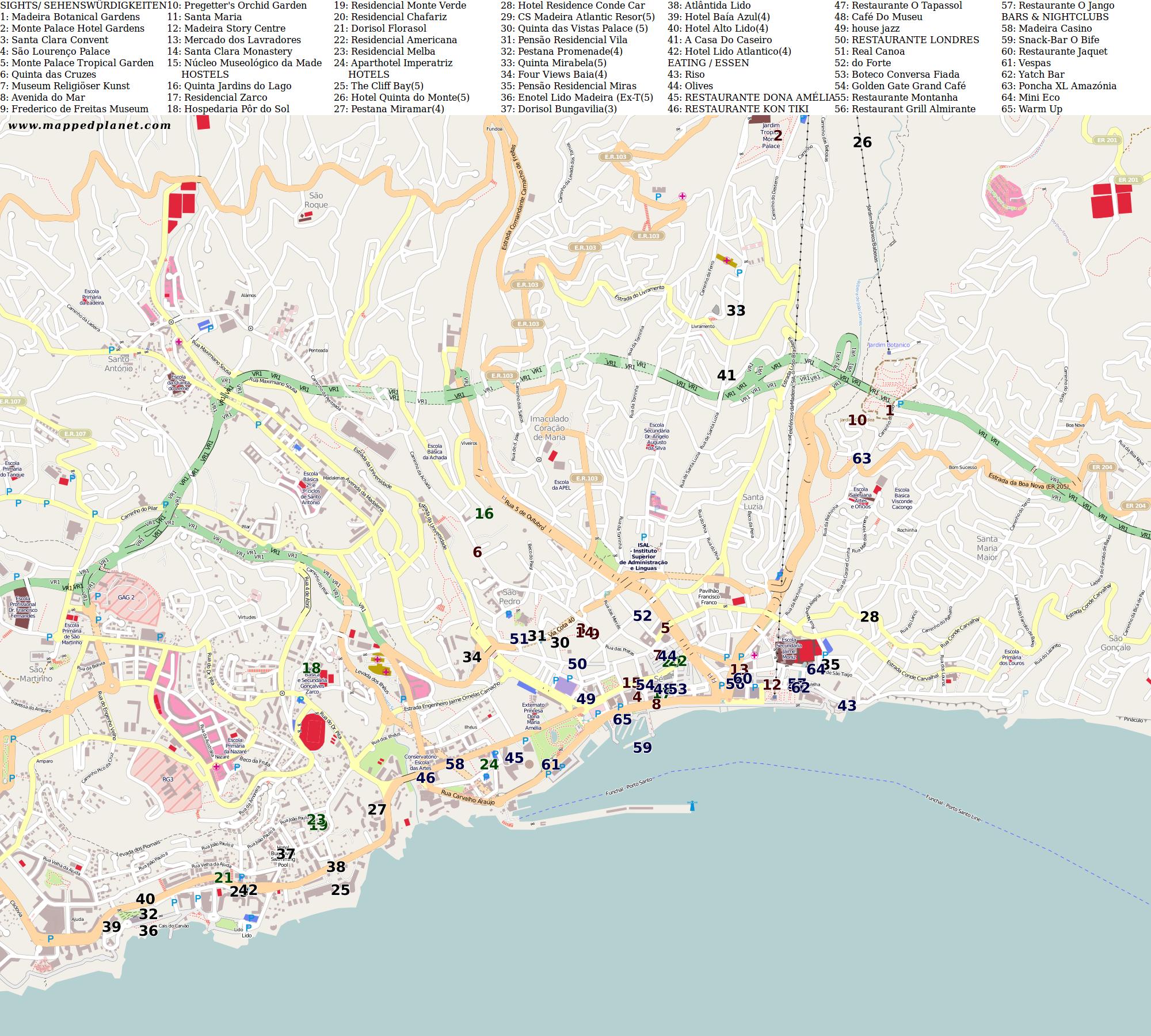 Funchal karte funchal karte hafenhandbuch spanien marina for Kisseo geburtstag kostenlos