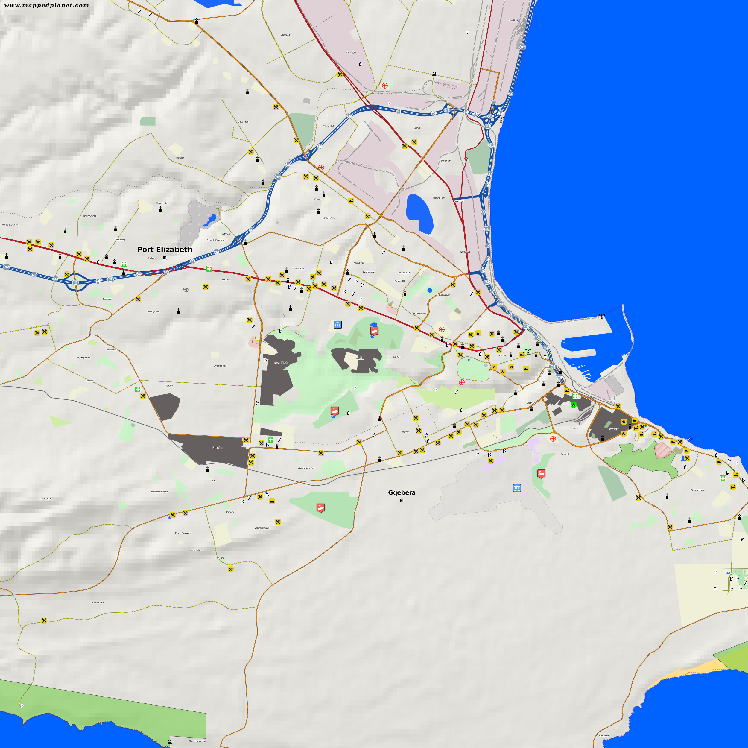 City maps Port Elizabeth