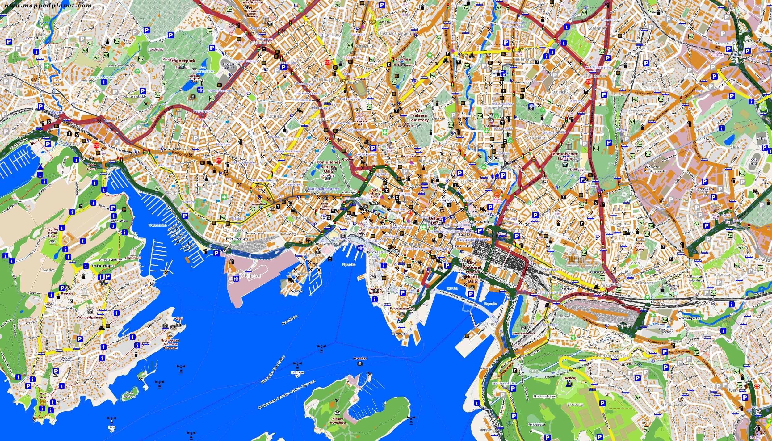 City maps Oslo