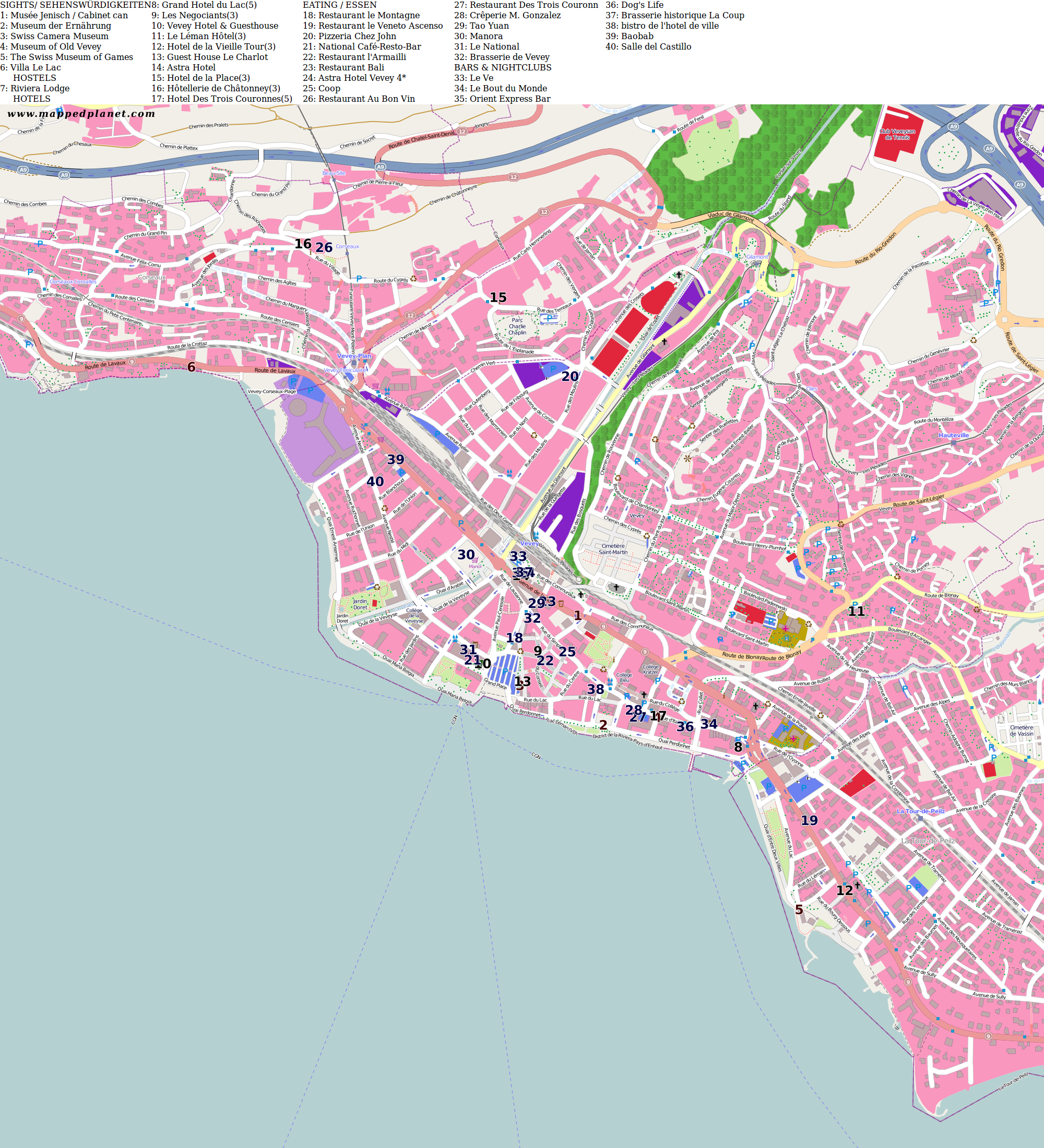 City maps Vevey