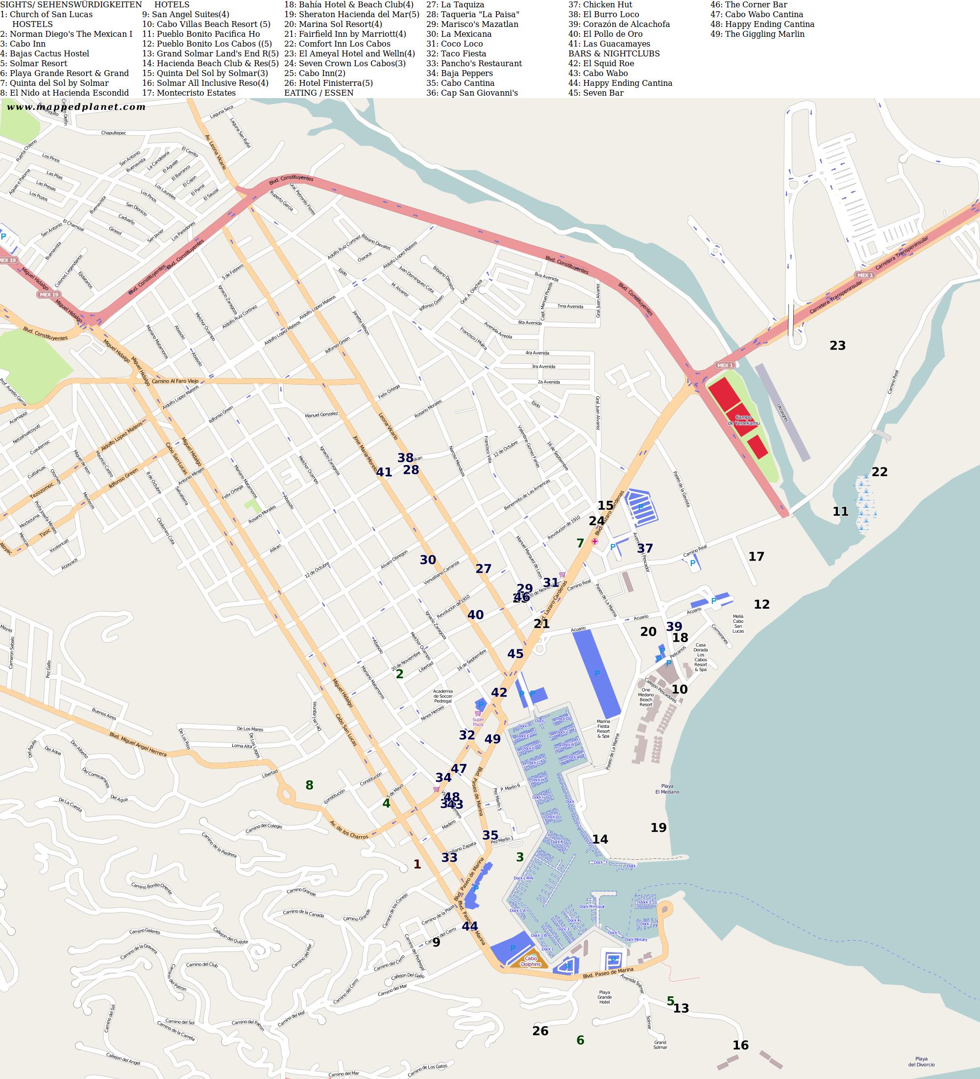 City maps Cabo San Lucas