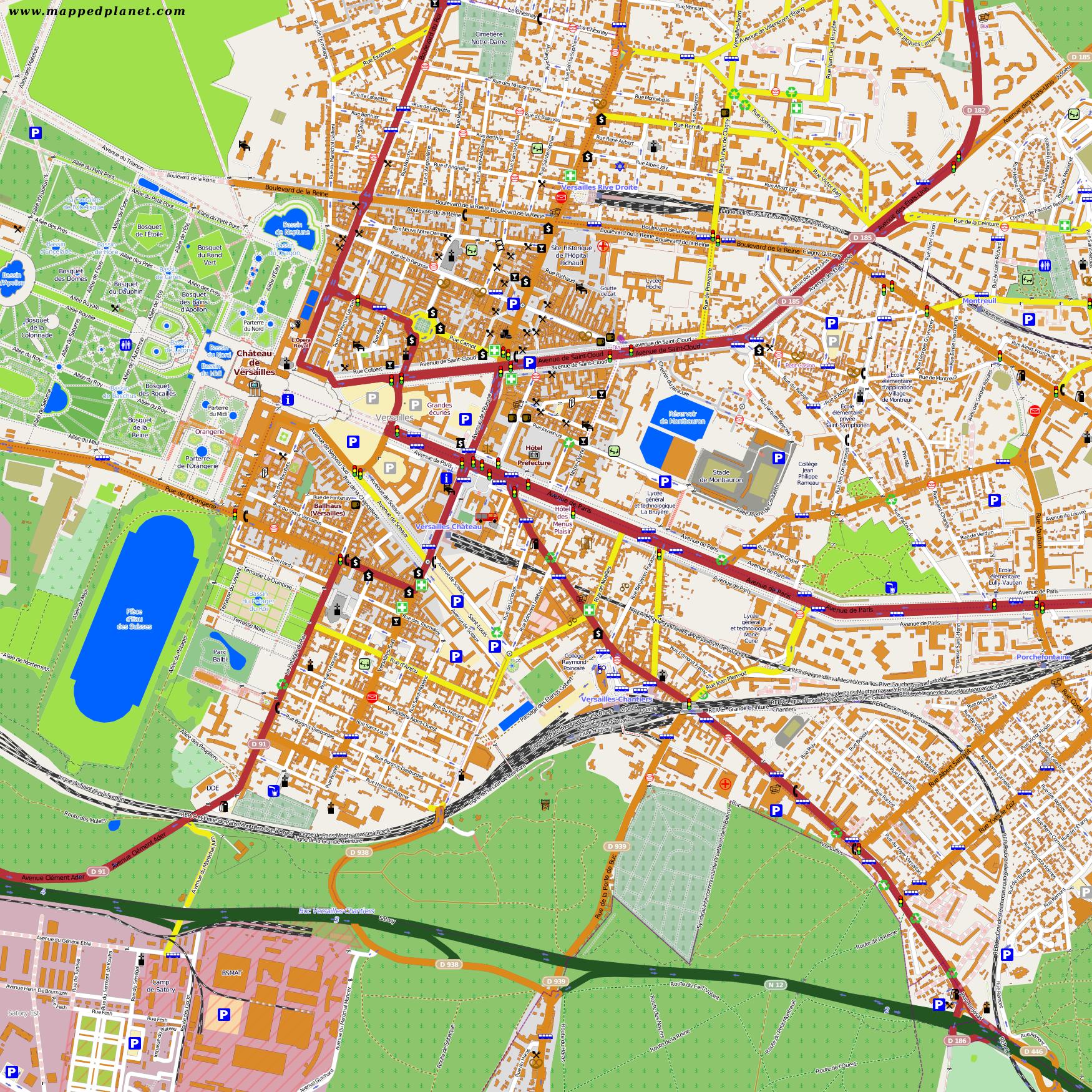 City maps Versailles