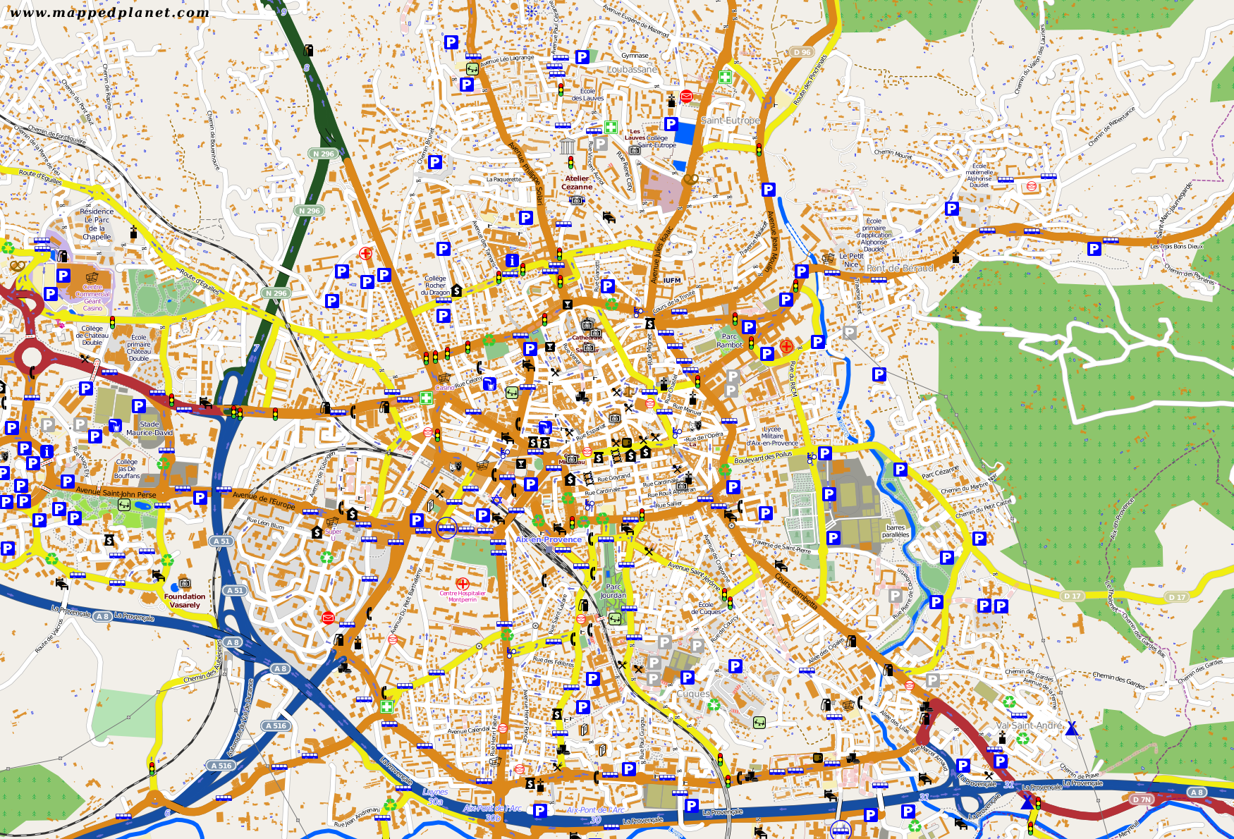 City maps AixenProvence