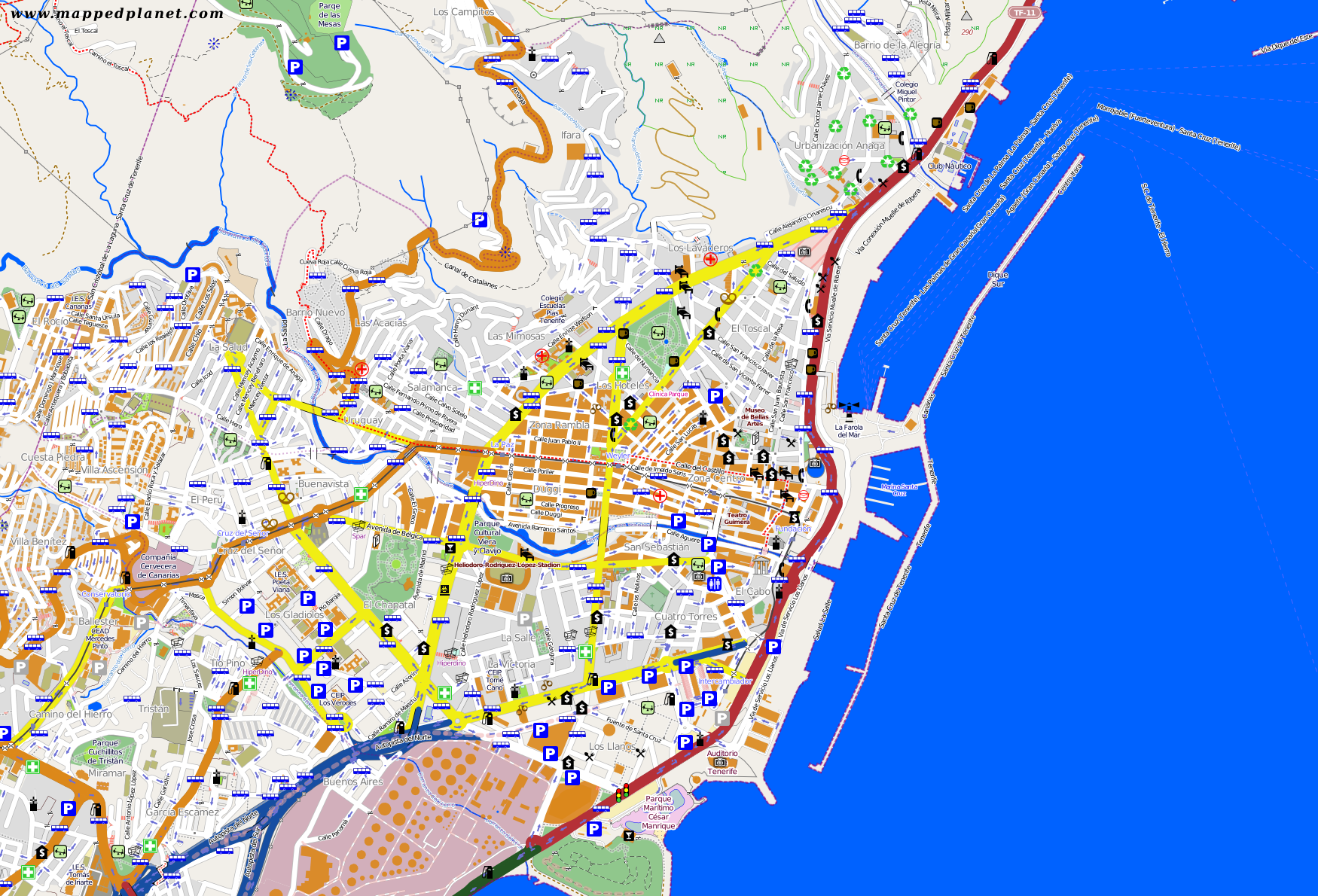 City maps Santa Cruz de Tenerife