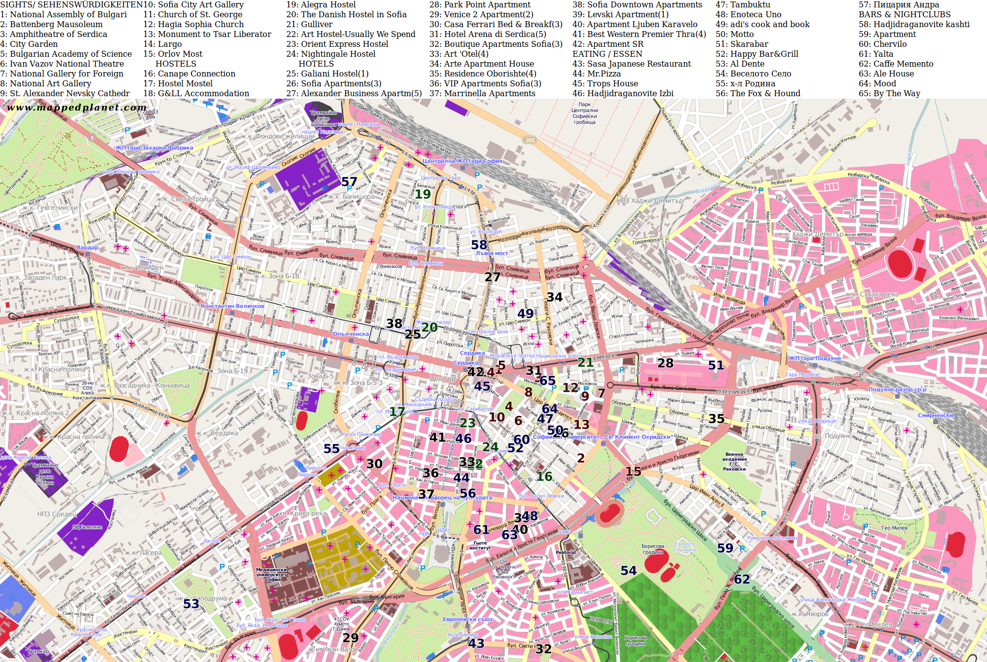 City maps Sofia