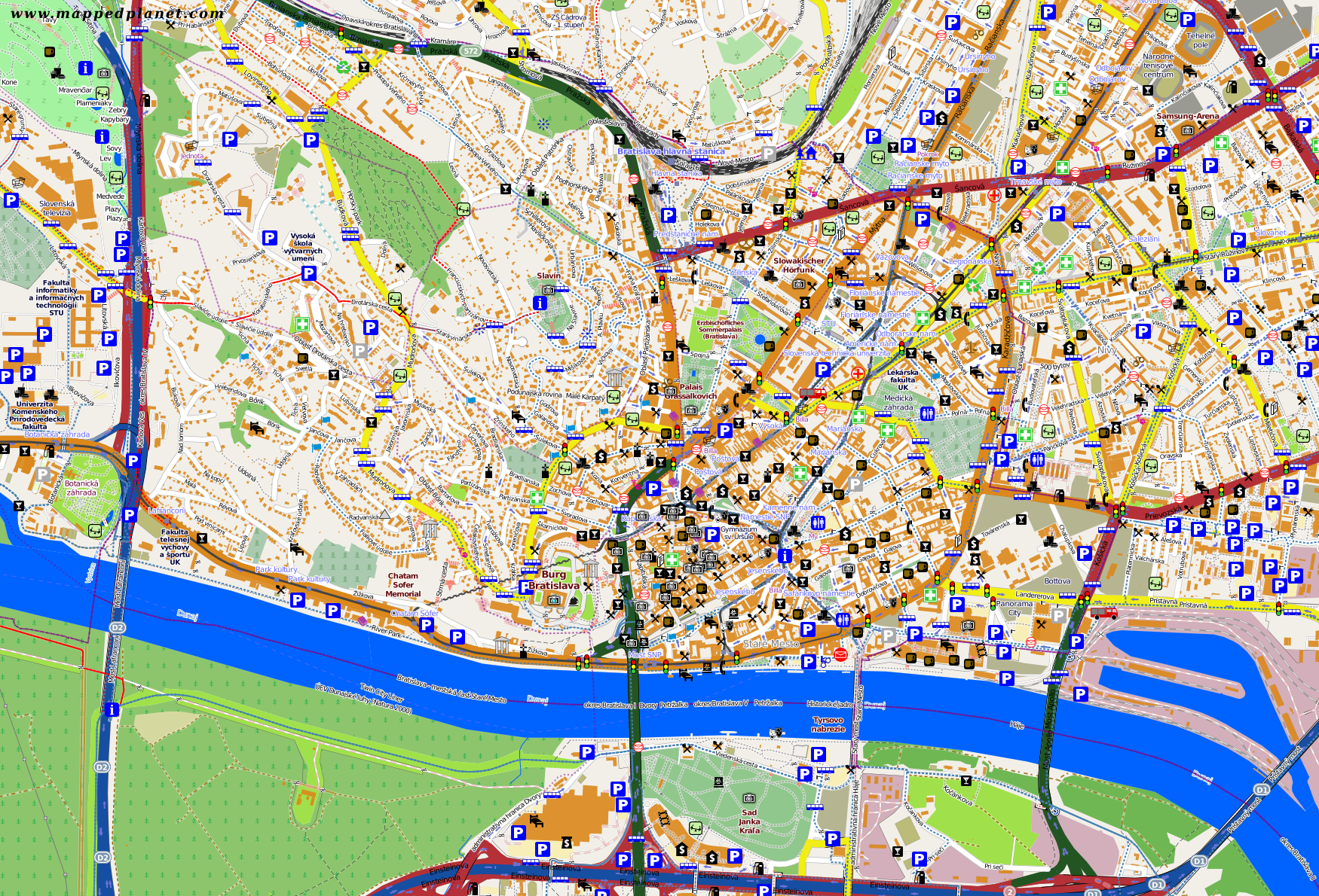 City maps Bratislava
