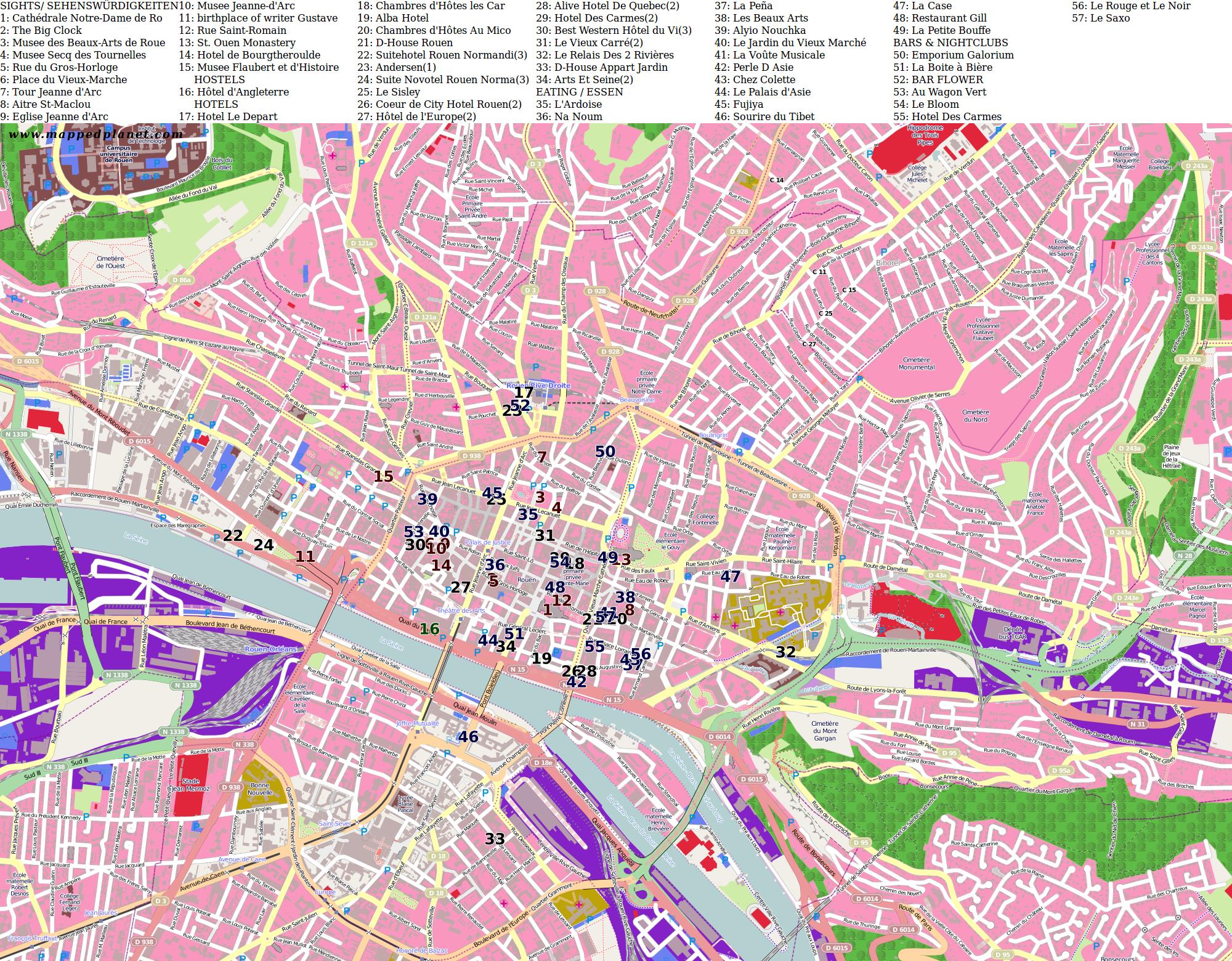 City maps Rouen