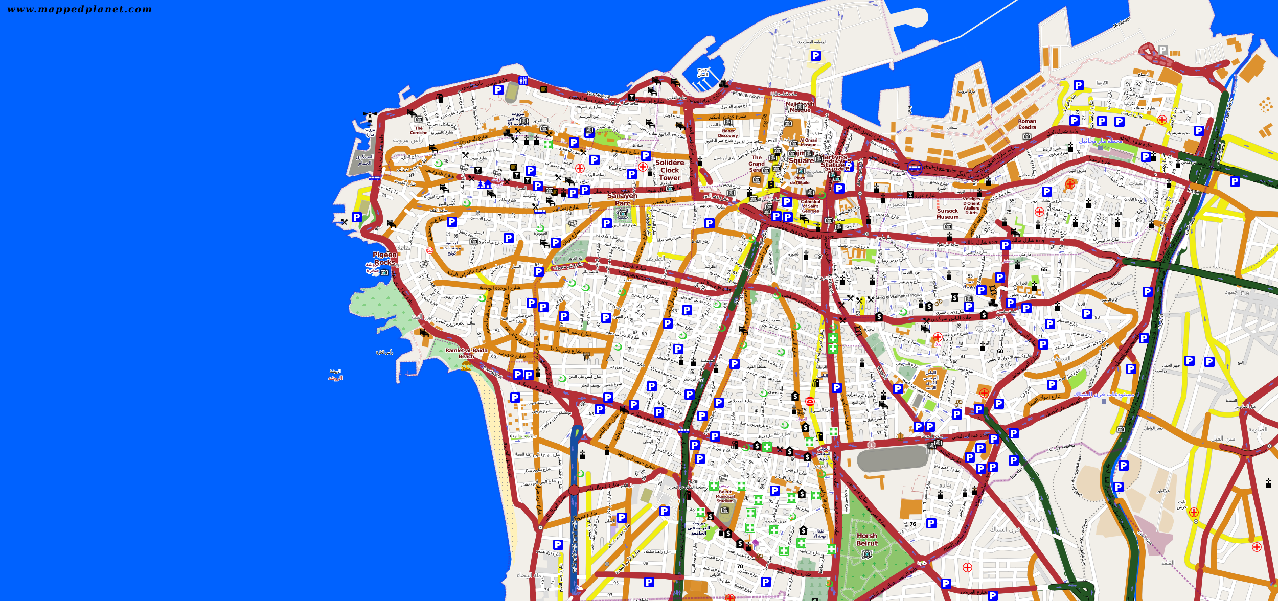 City maps Beirut
