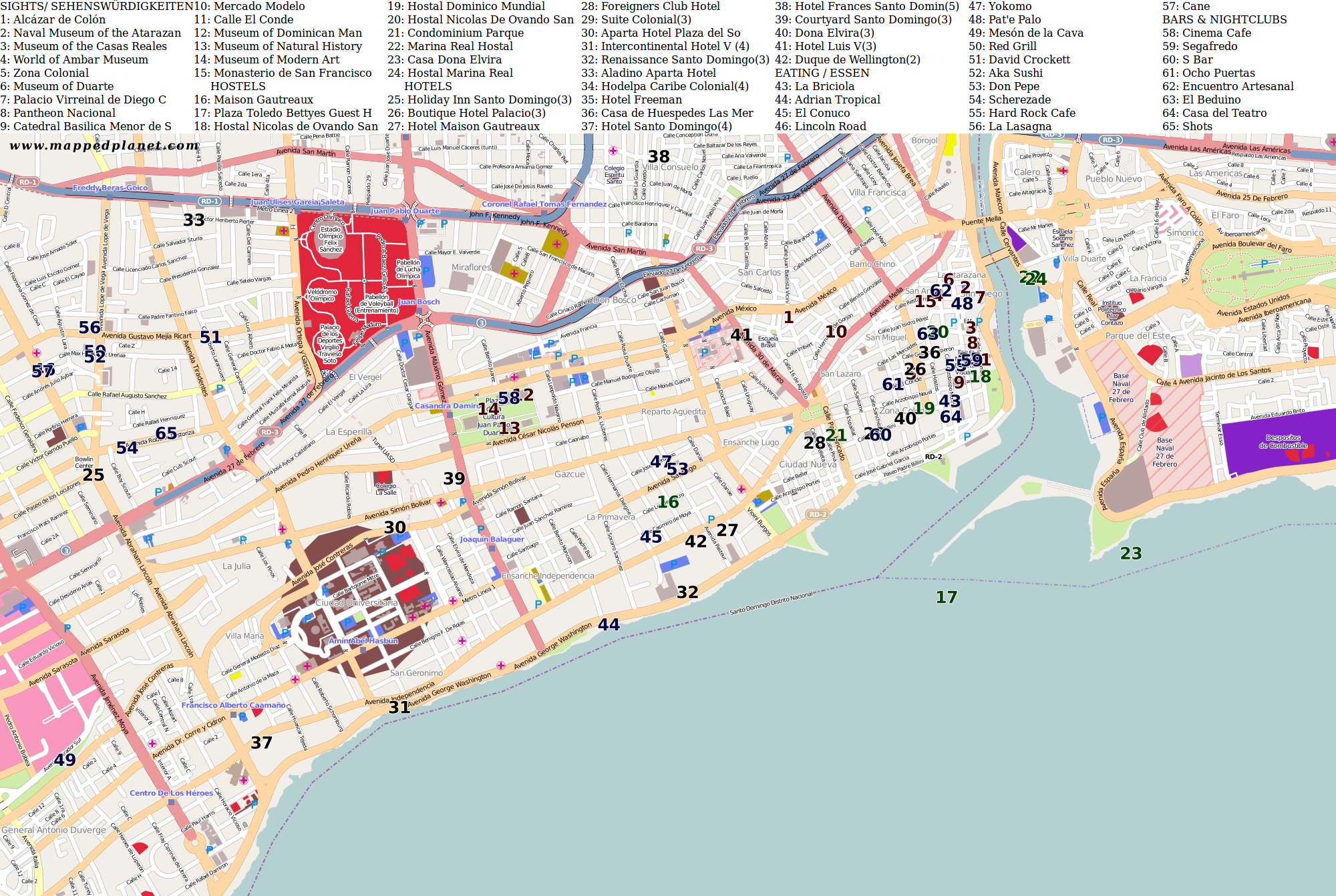 City maps Santo Domingo