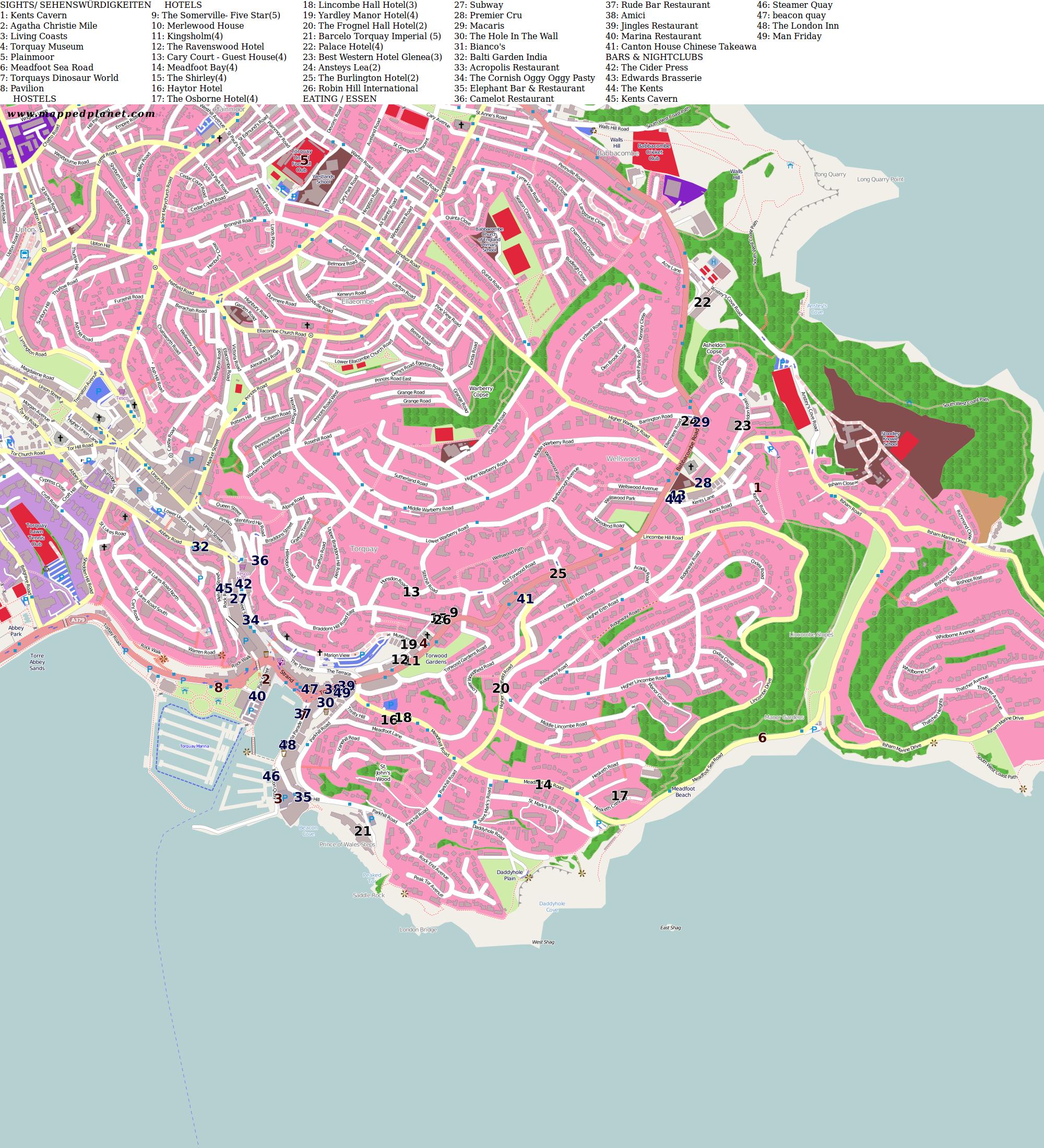 City maps Torquay