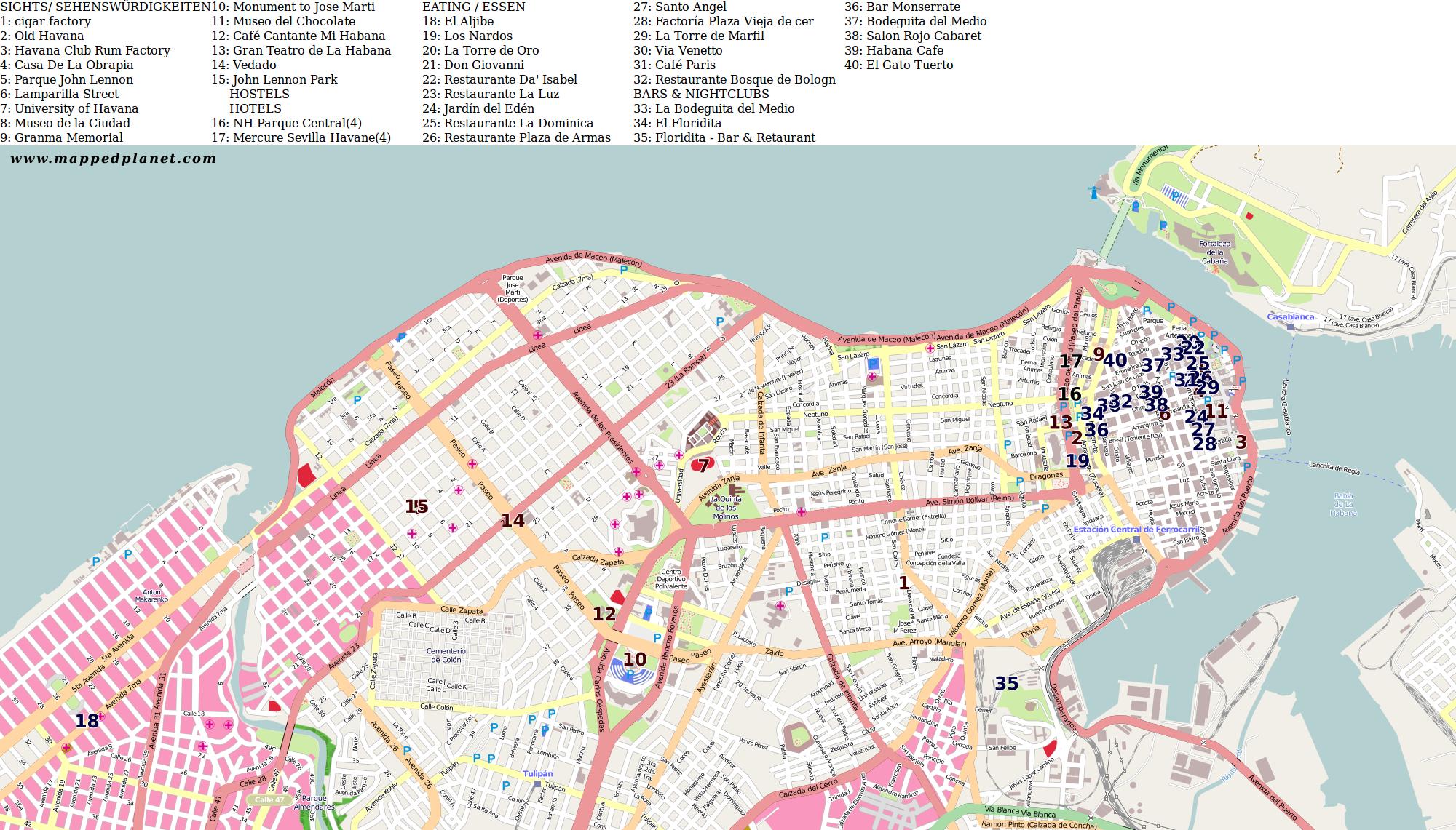 Havanna Kuba Karte.Karten Und Stadtpläne Havanna