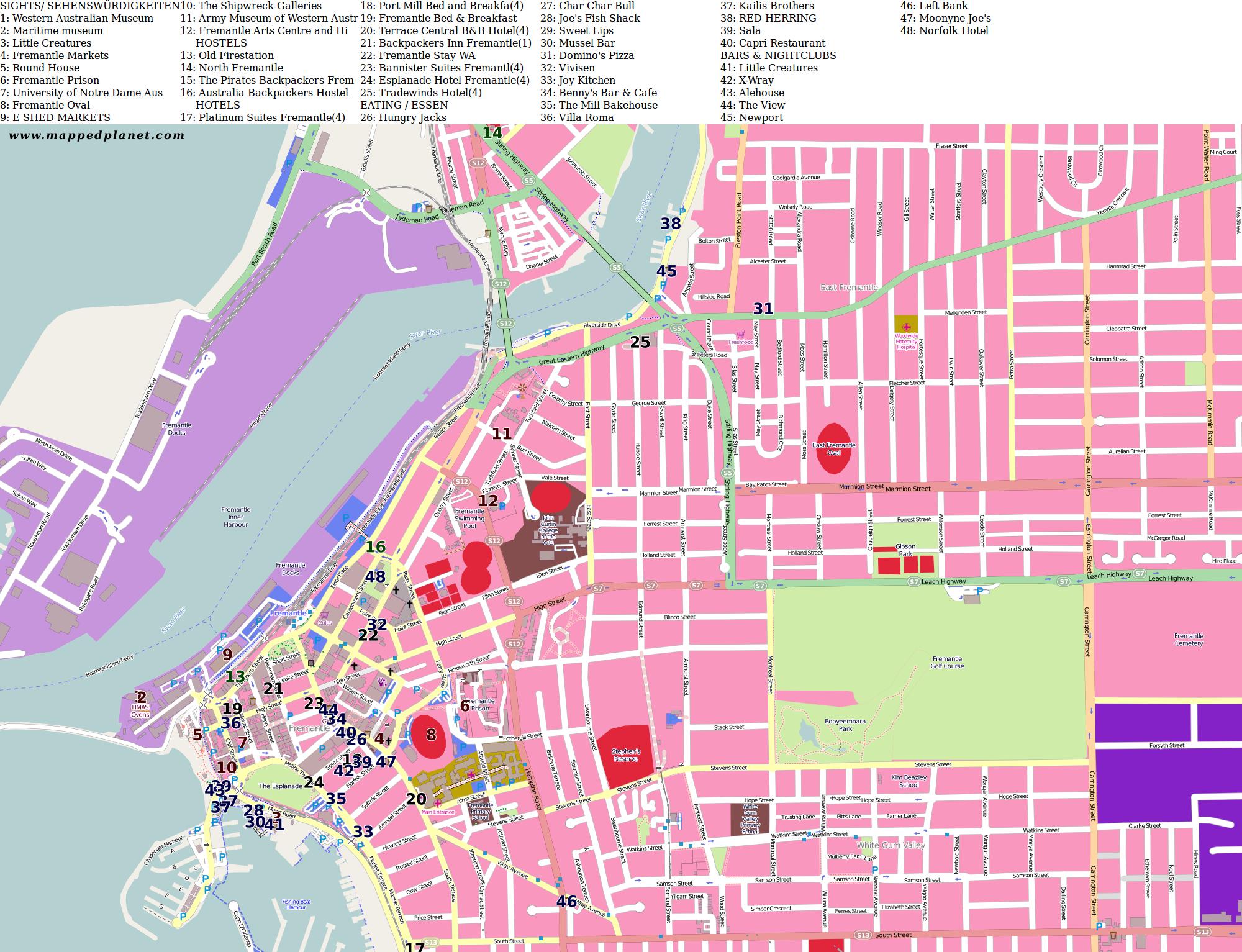 City maps Fremantle