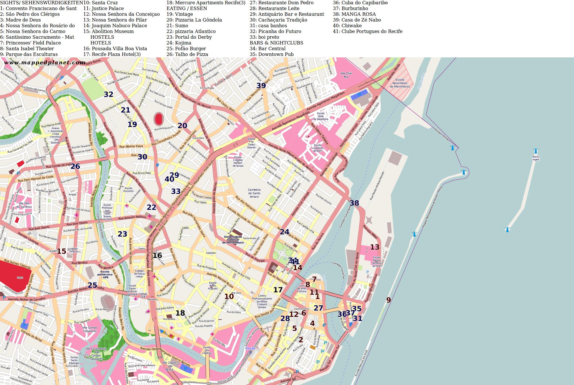 City maps Recife