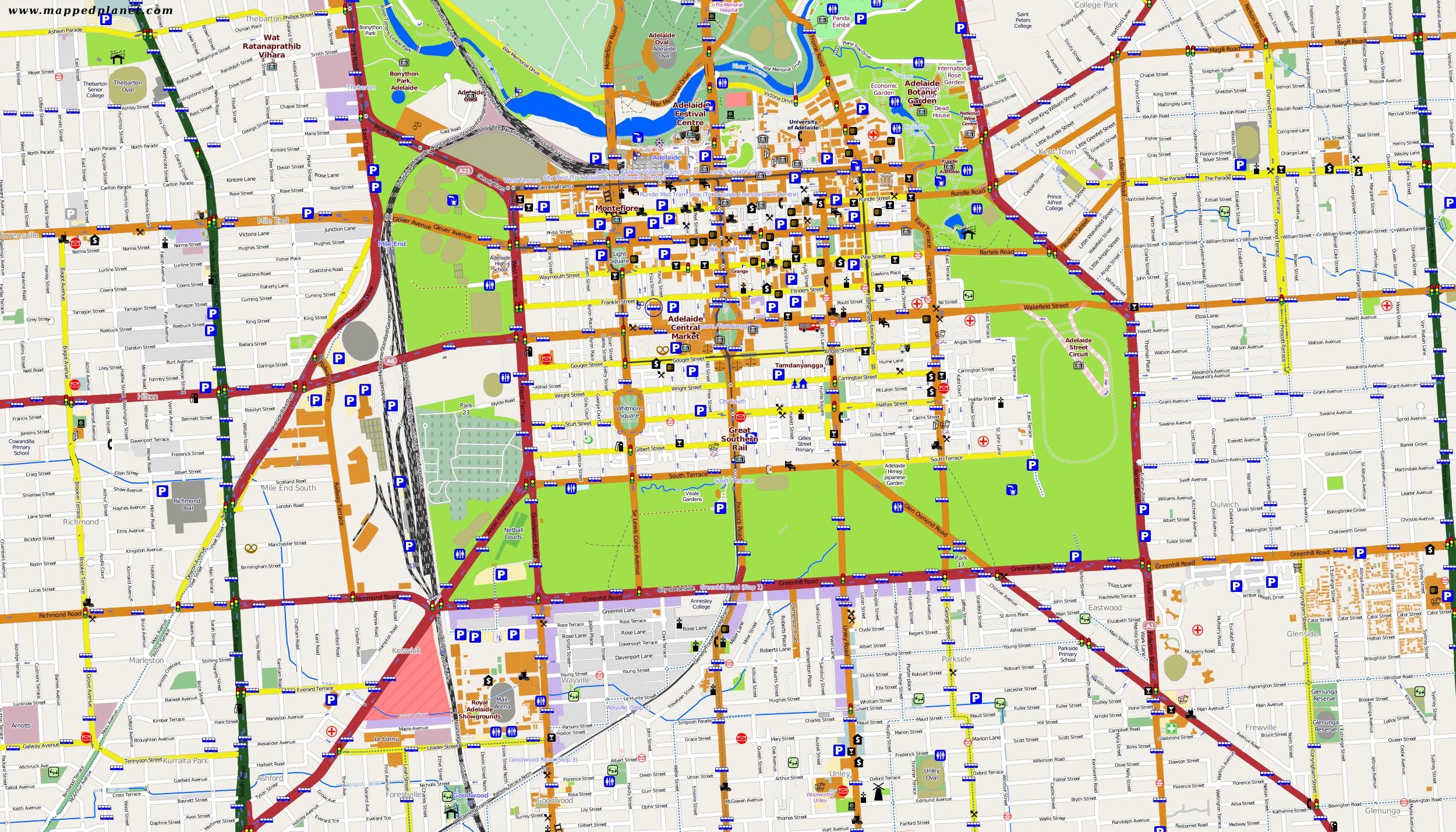 City Maps Adelaide