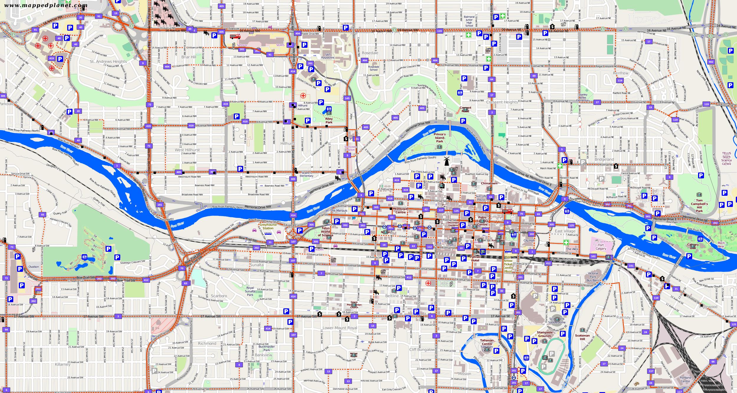 City maps Calgary