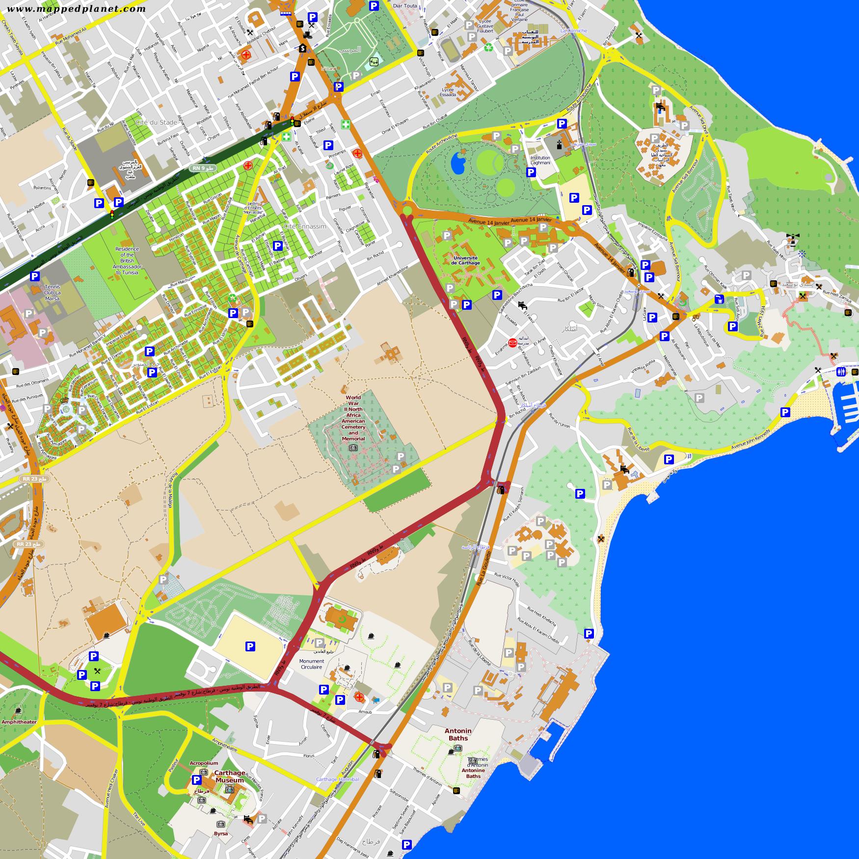 City maps Carthage Carthage Map on
