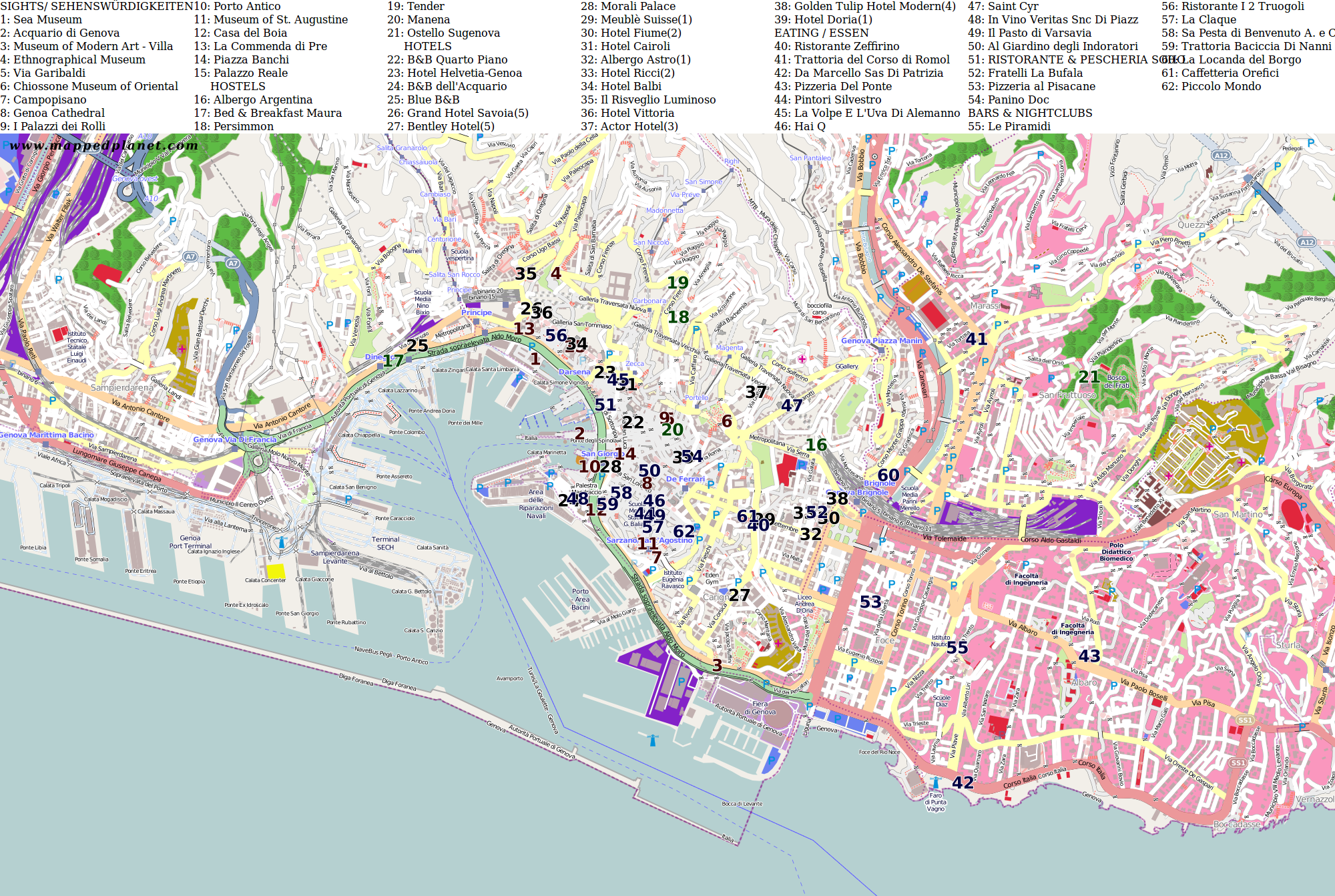 City maps Genoa