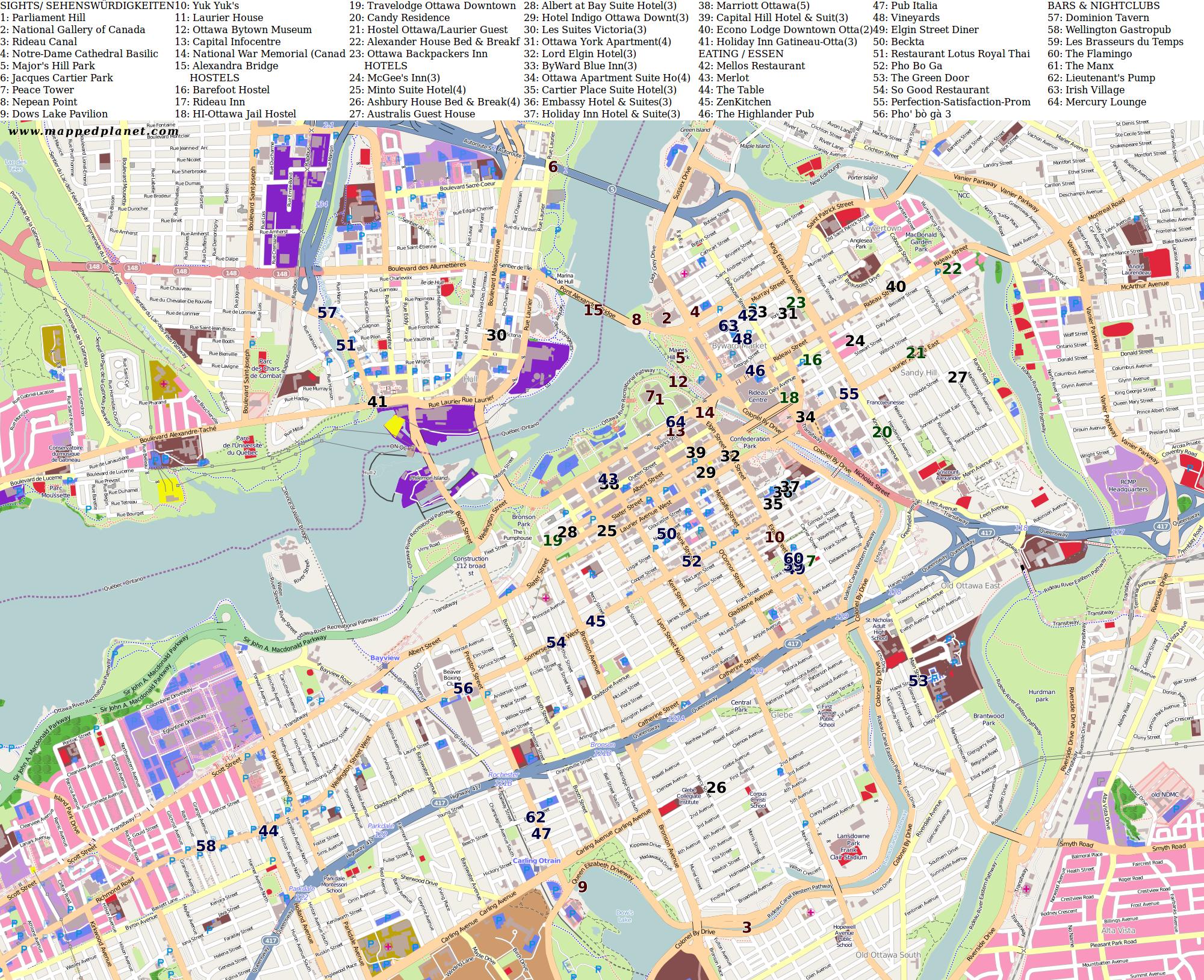 Ottawa Subway Map.Maps Of Ottawa City Maps