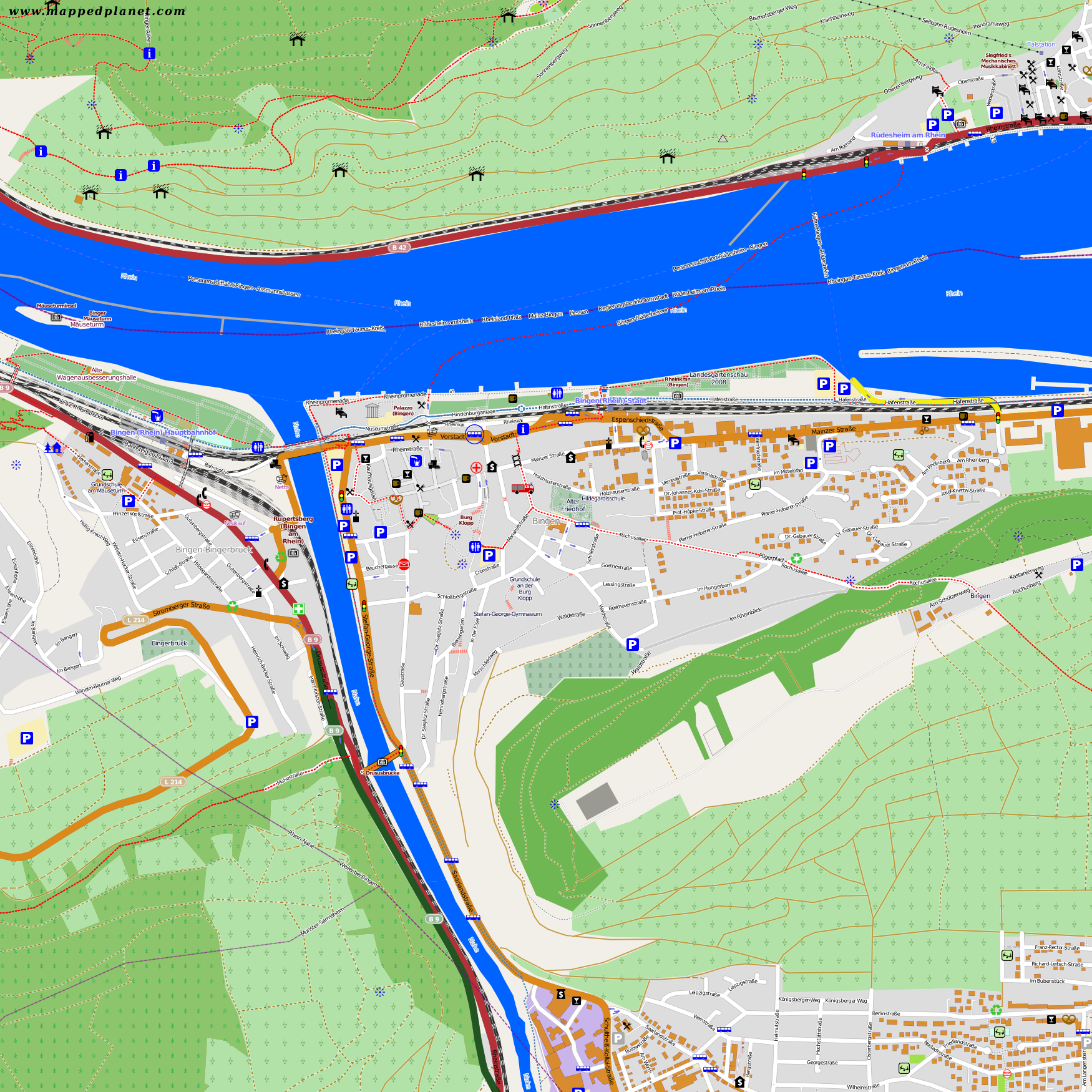 Bingen Germany Map.City Maps Bingen Am Rhein