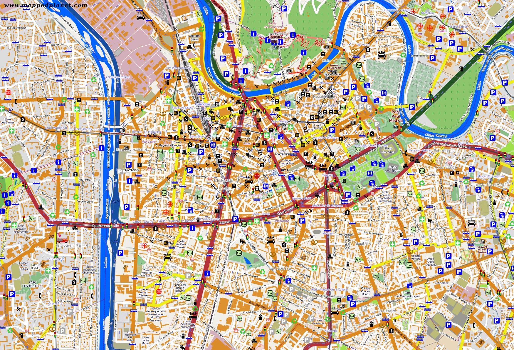 City maps Grenoble