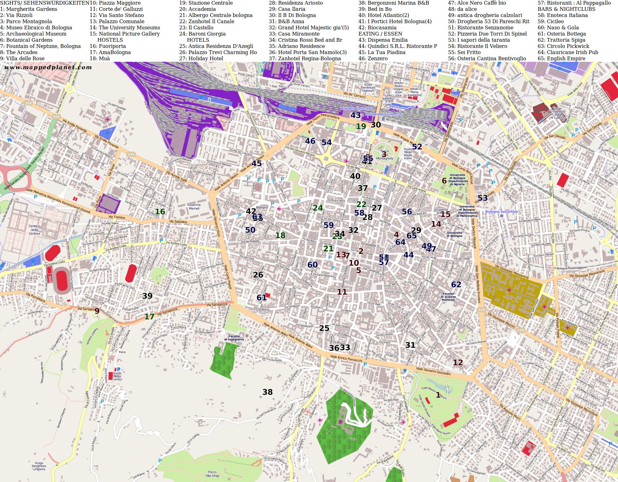 fintyre bologna map - photo#15