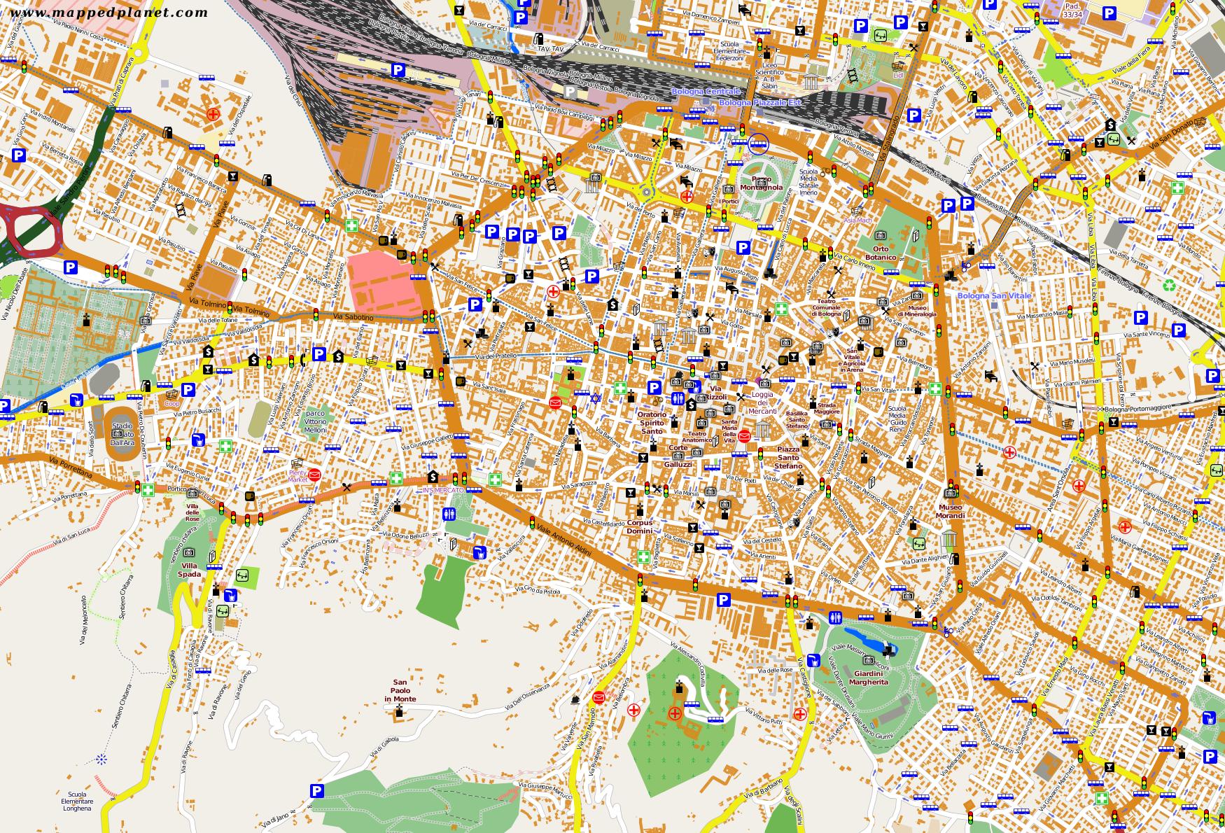 show map of italy with Citymaps 579 Bologna on Civita di Bagnoregio further Citymaps 958 Trieste furthermore Il Belvedere Matera besides Corfu Tourist Map also Tourism G187900 Piombino Province of Livorno Tuscany Vacations.