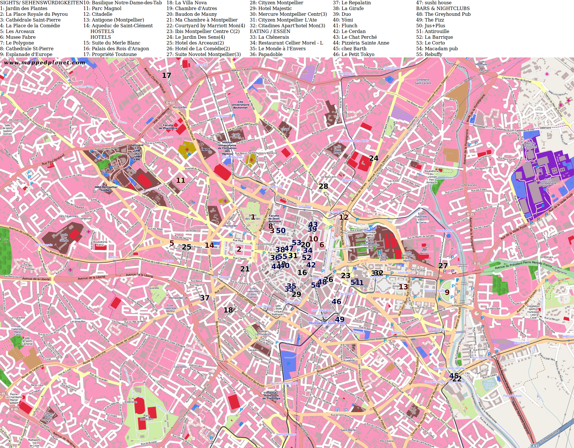 City Maps Montpellier