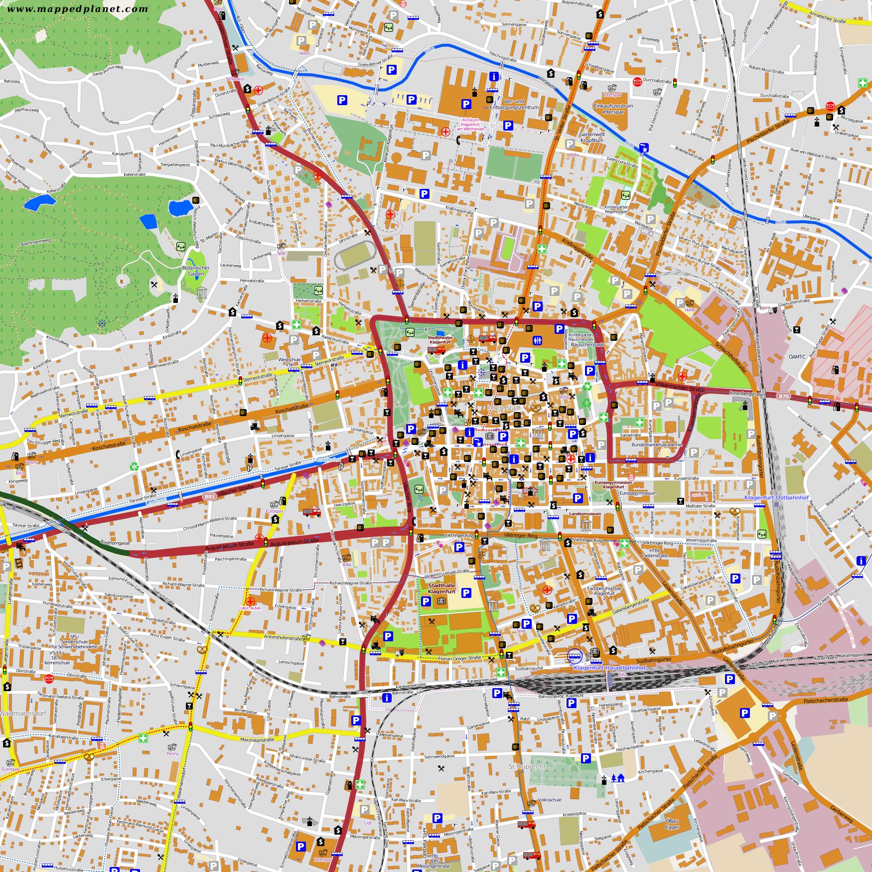 City Maps Klagenfurt - Klagenfurt austria map
