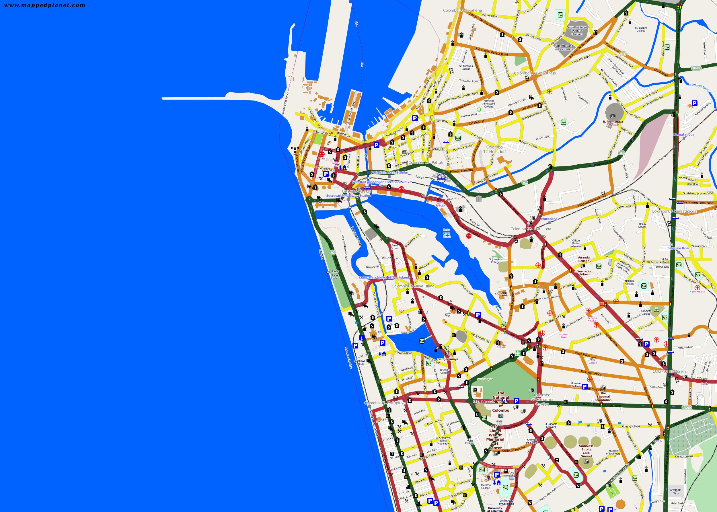 City maps Colombo