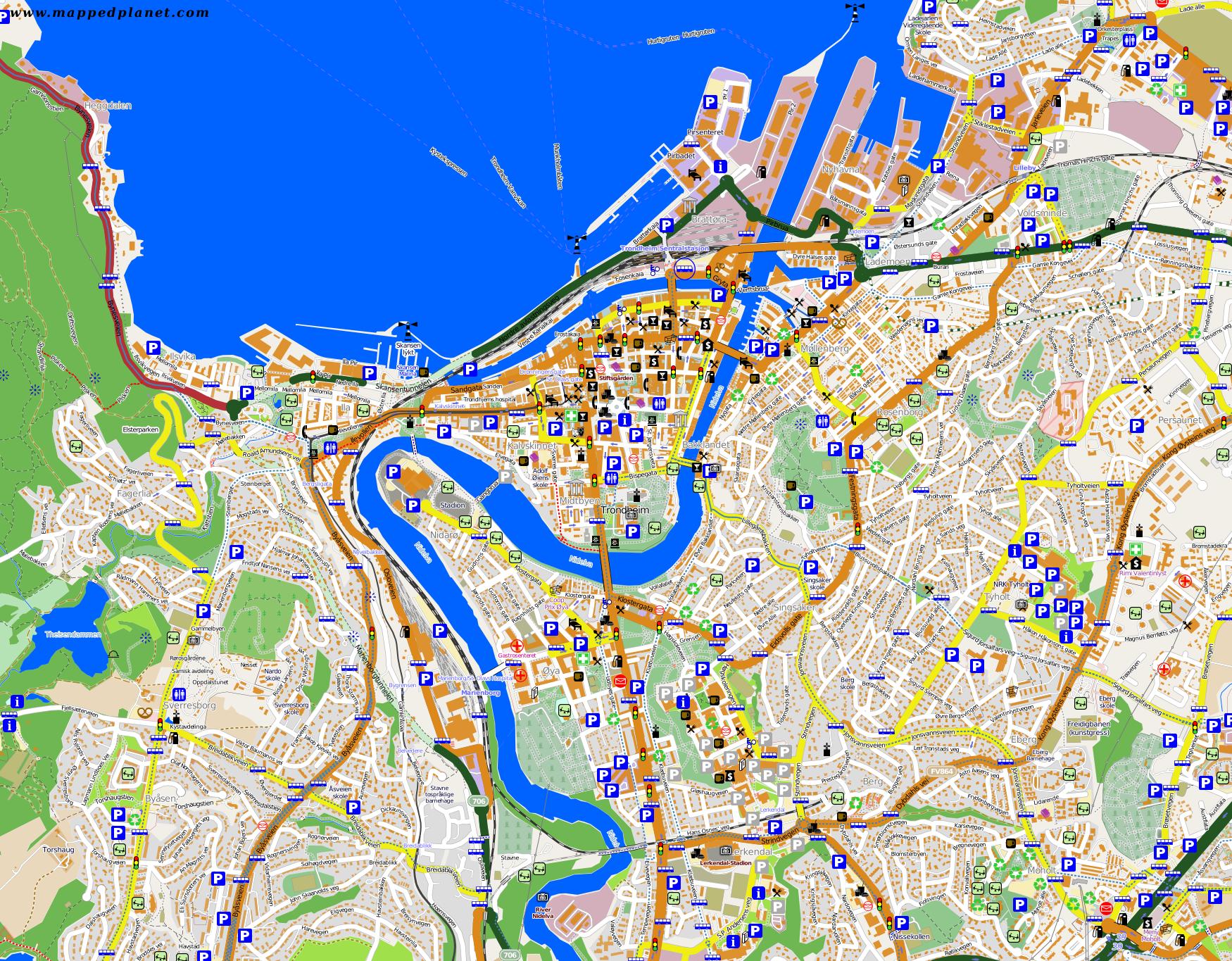 City maps Trondheim