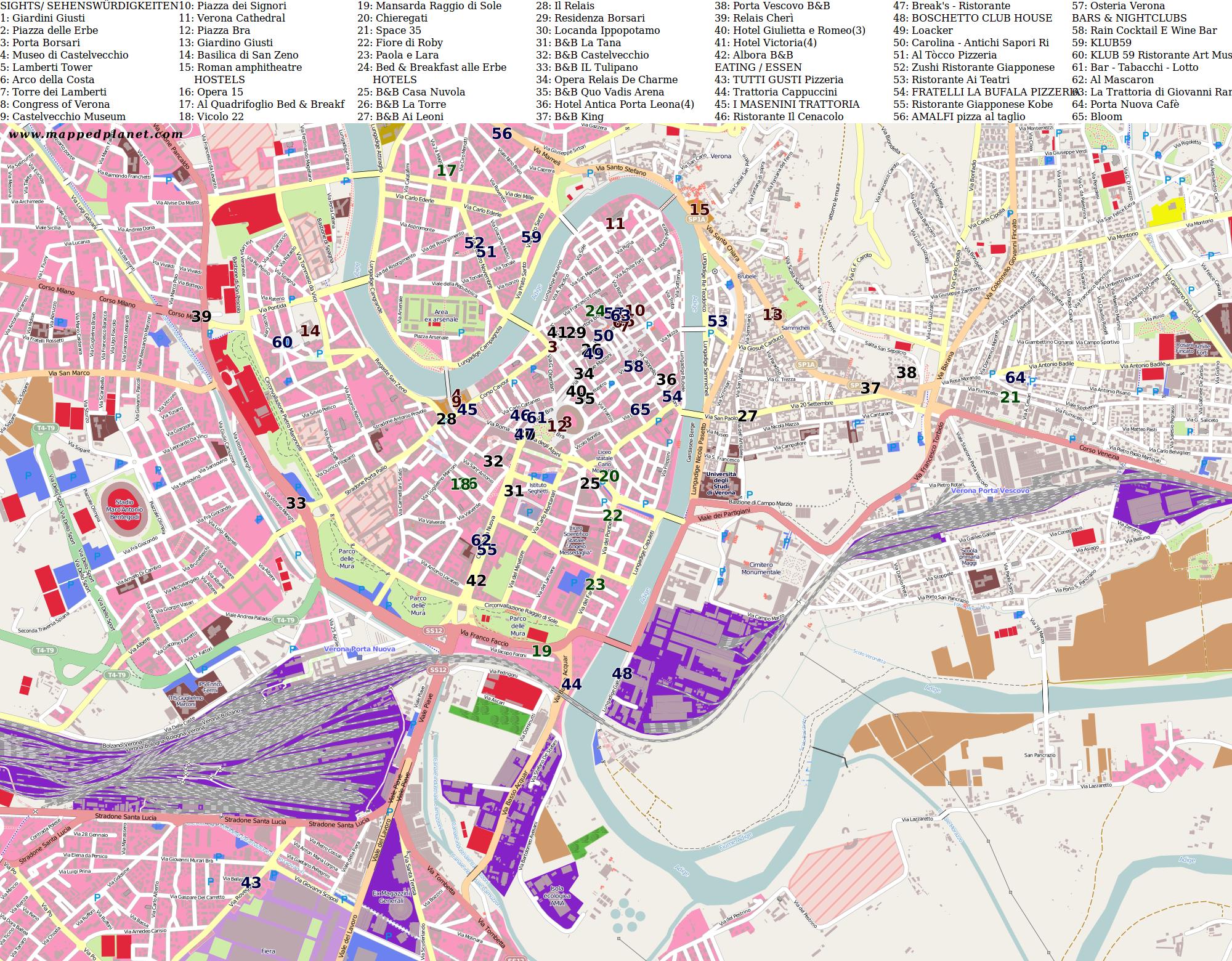 Verona Italien Karte.Karten Und Stadtpläne Verona
