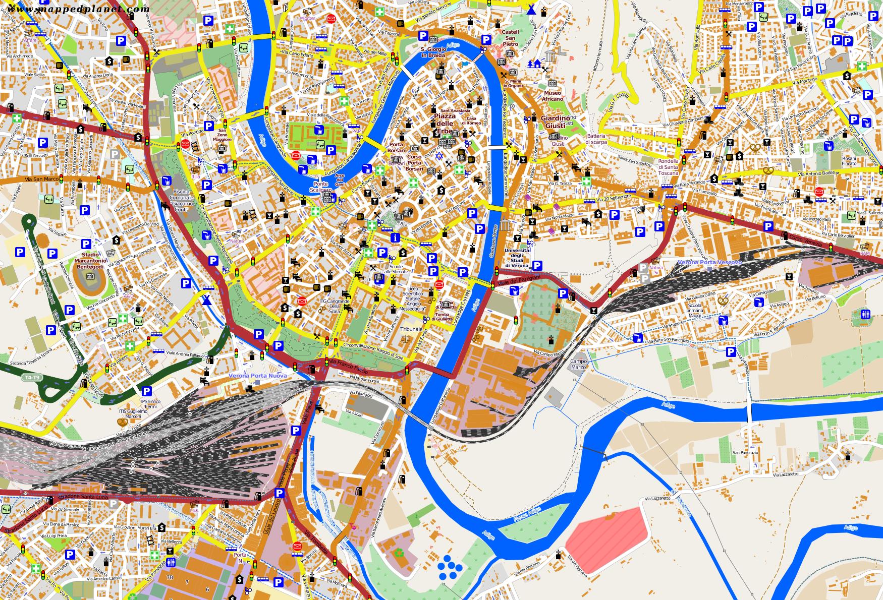 verona tourism map - photo#18