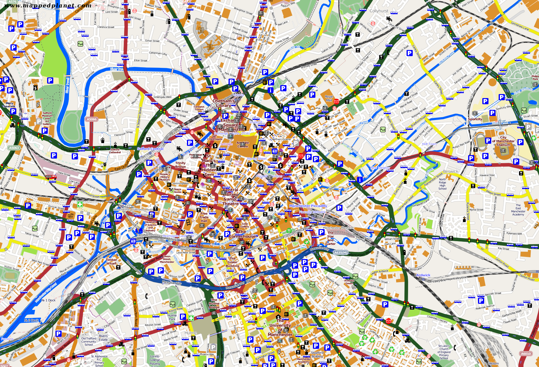 manchester karte Karten und Stadtpläne Manchester