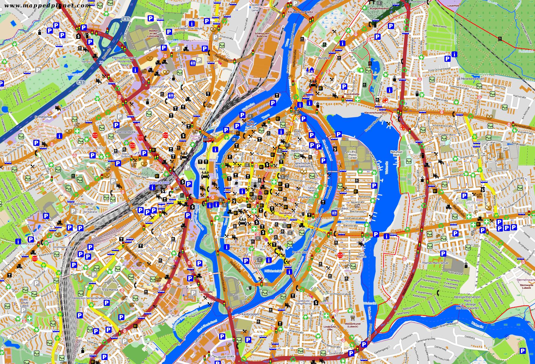 City maps Lbeck