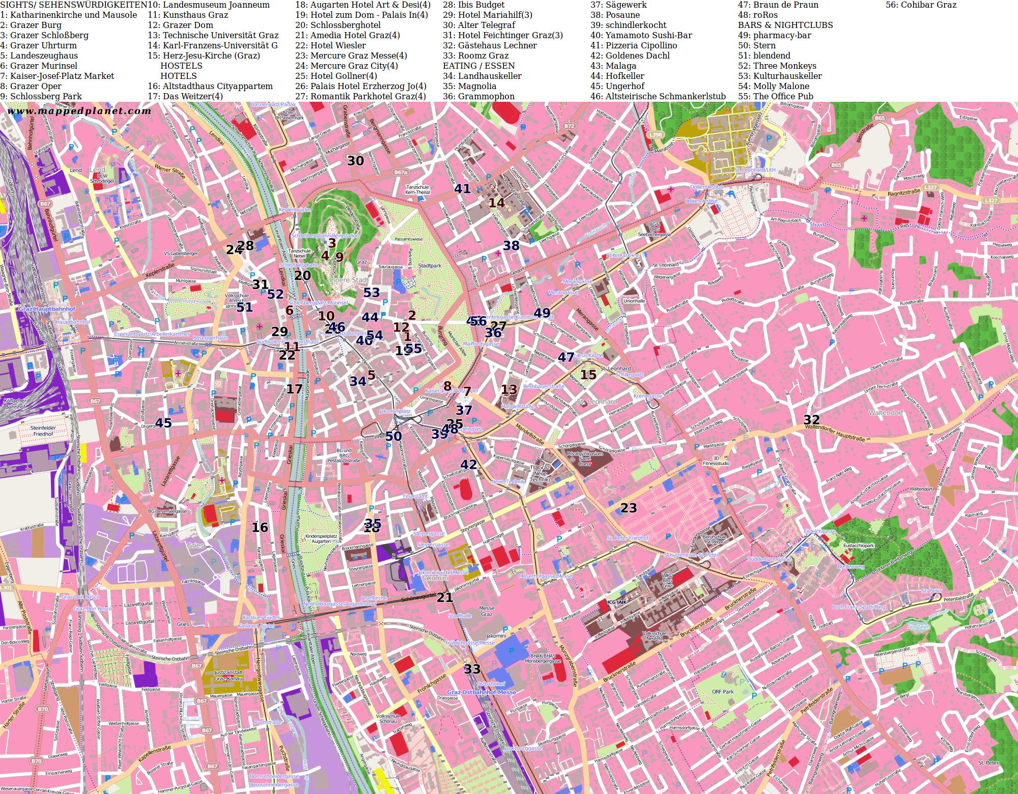 City maps Graz