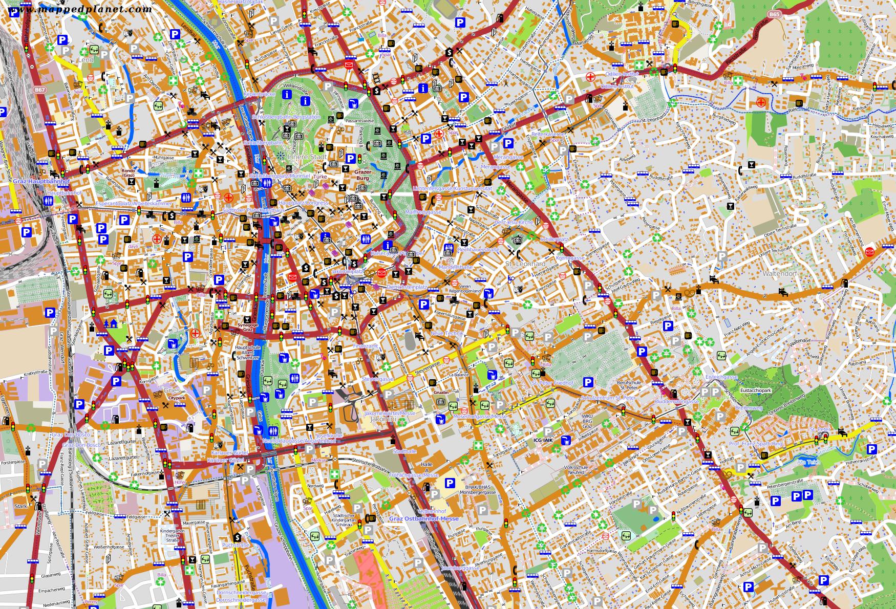 City Maps Graz - Graz austria map