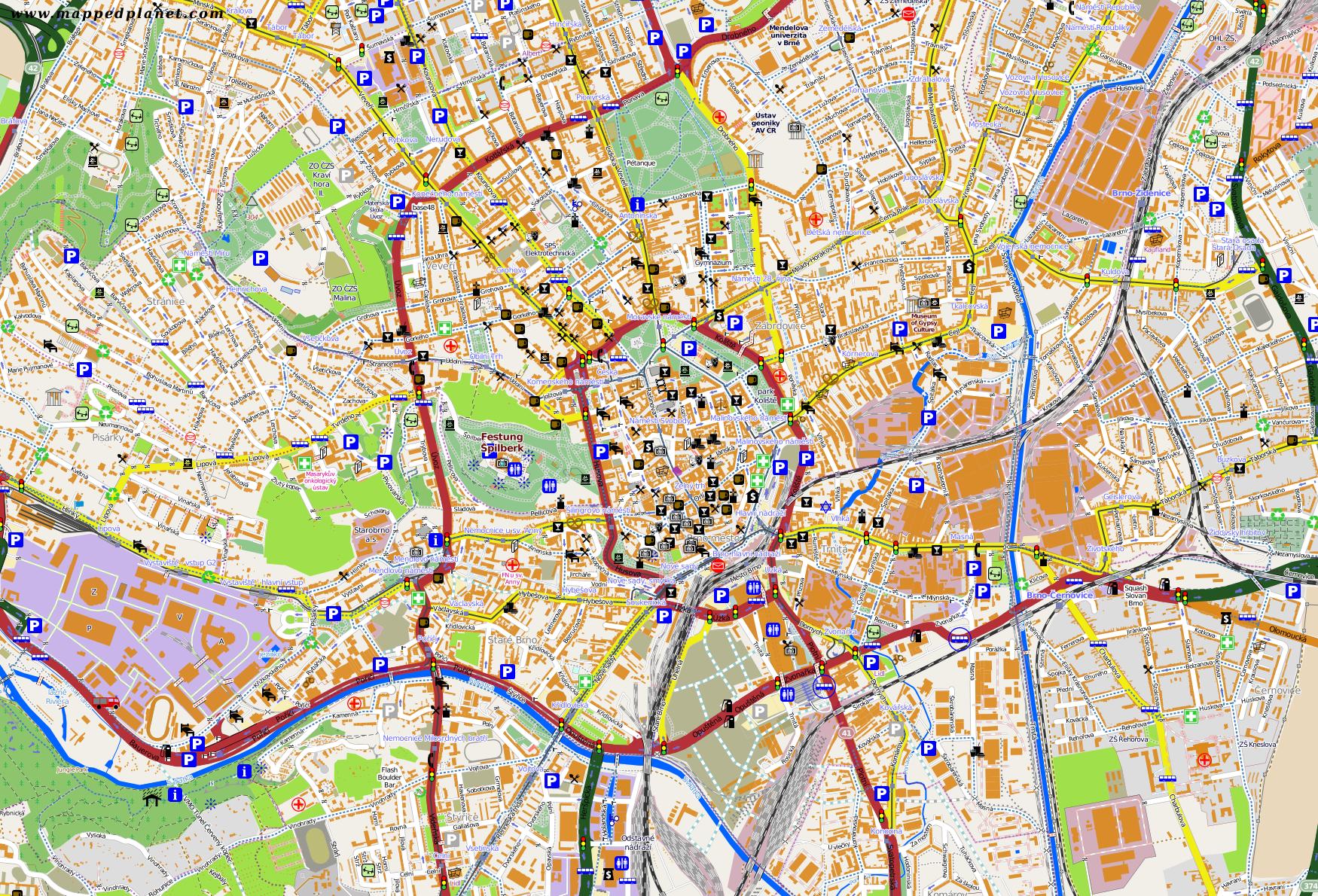 City maps Brno