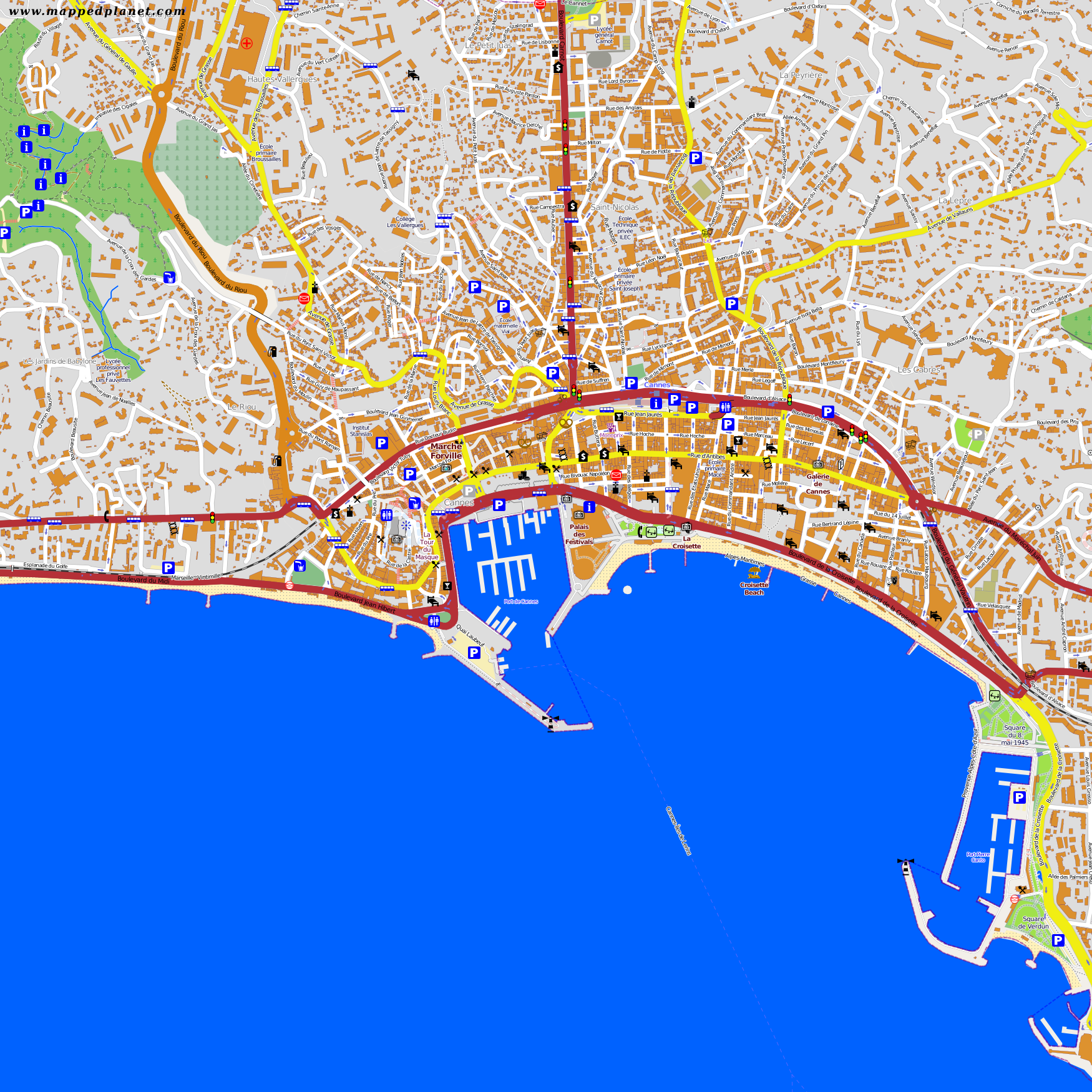 City maps Cannes