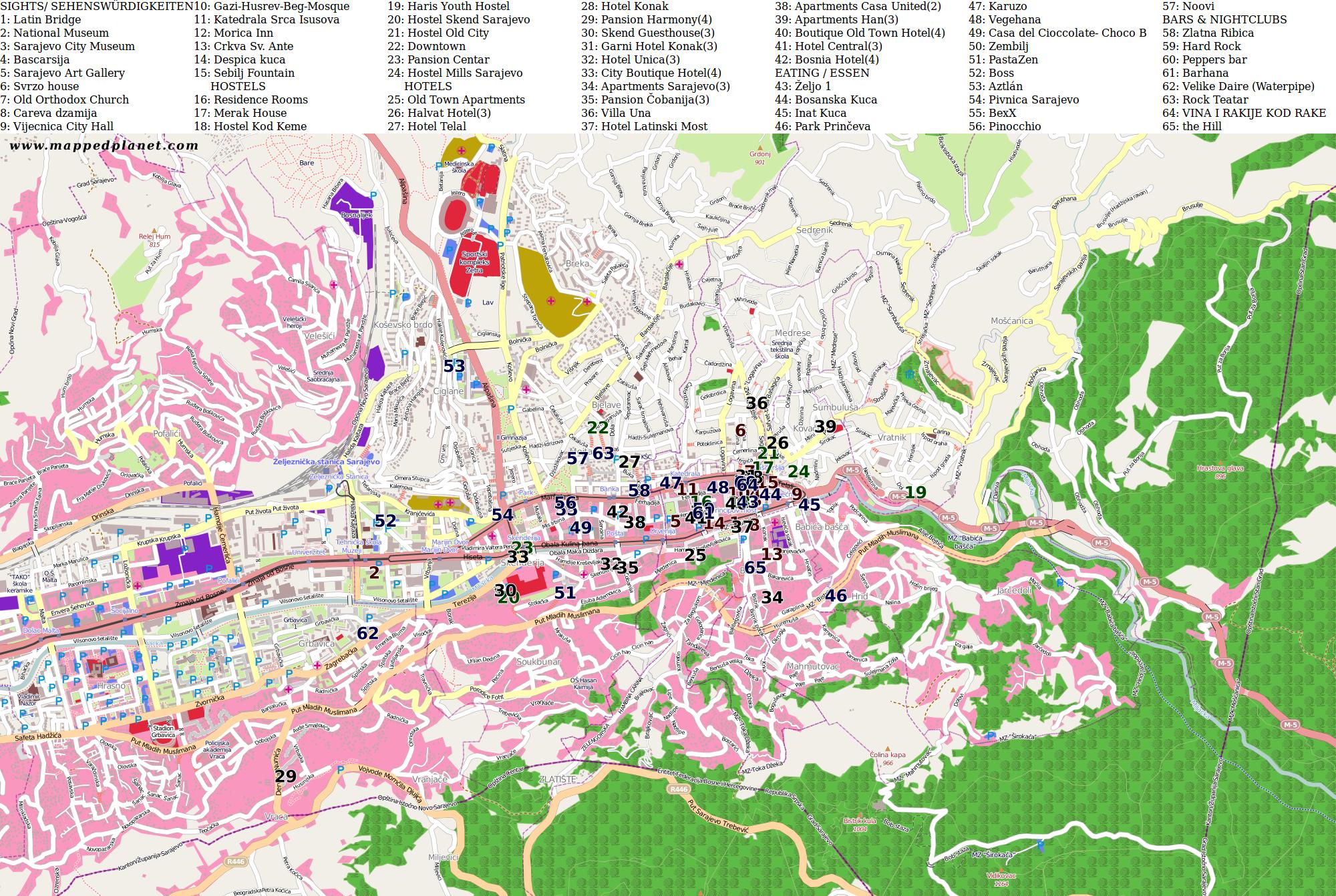 0.png Sarajevo Map