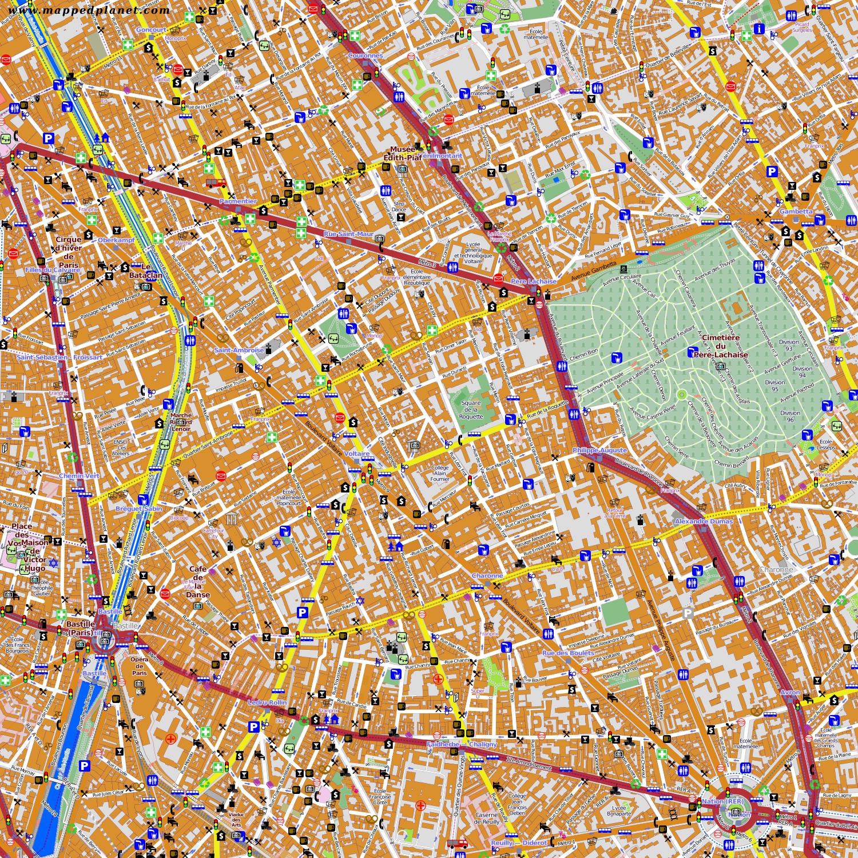 City Maps Paris - Show map of paris arrondissements
