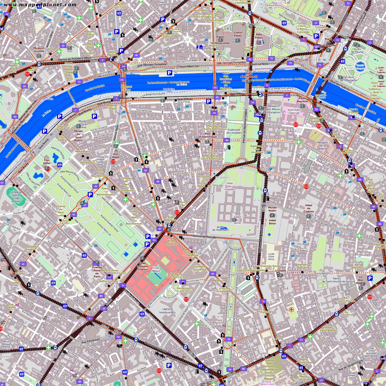 Karte Paris Arrondissement.City Maps Paris
