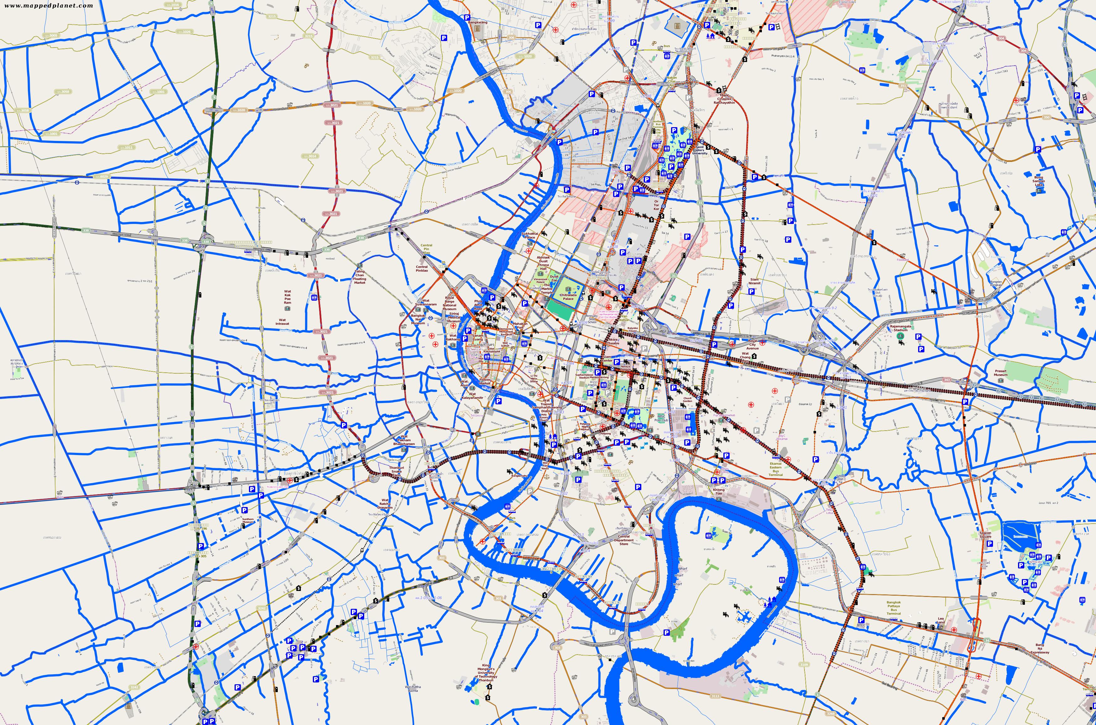 city maps bangkok. Black Bedroom Furniture Sets. Home Design Ideas