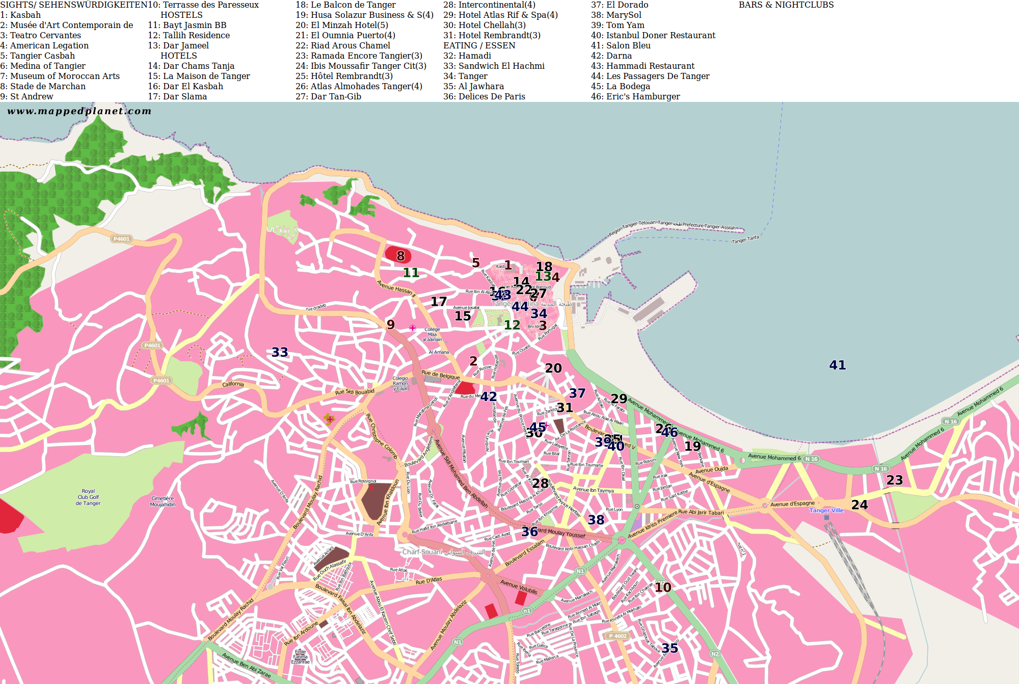 City maps Tangier