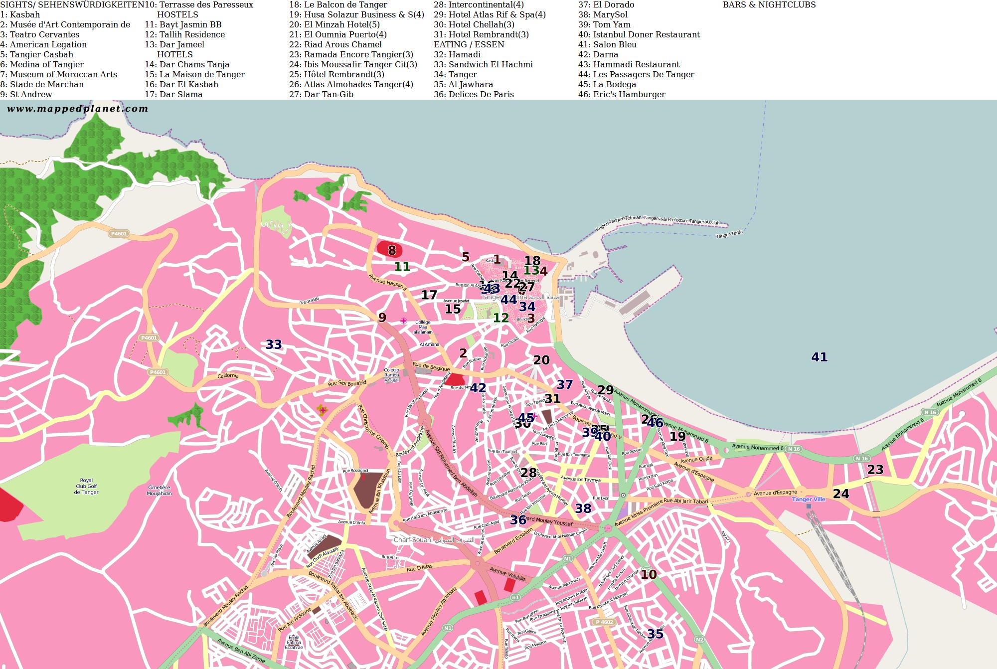 Tangier: location -- Kids Encyclopedia | Children's Homework Help ...