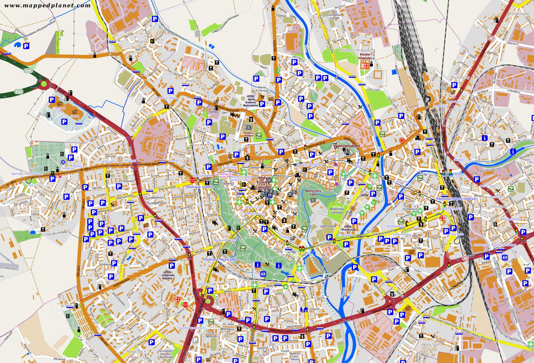 City maps Olomouc