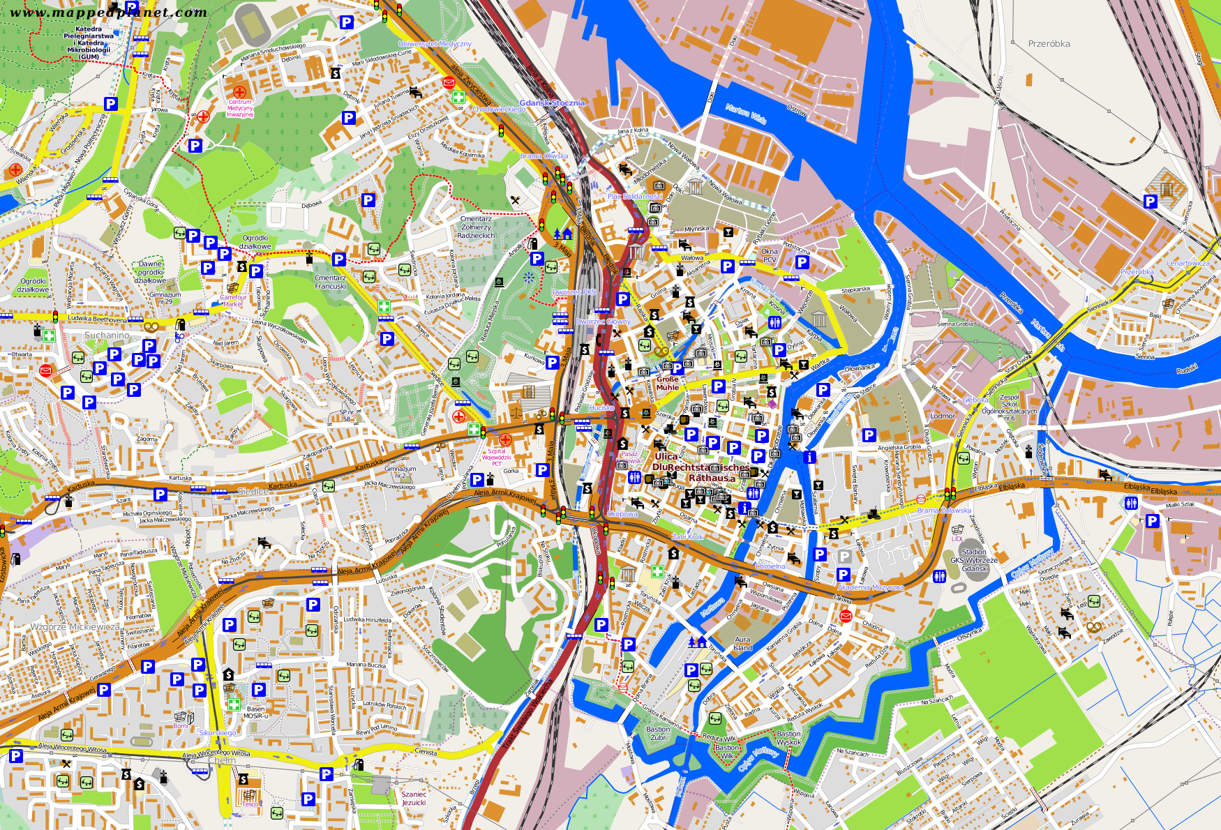City maps Gdask