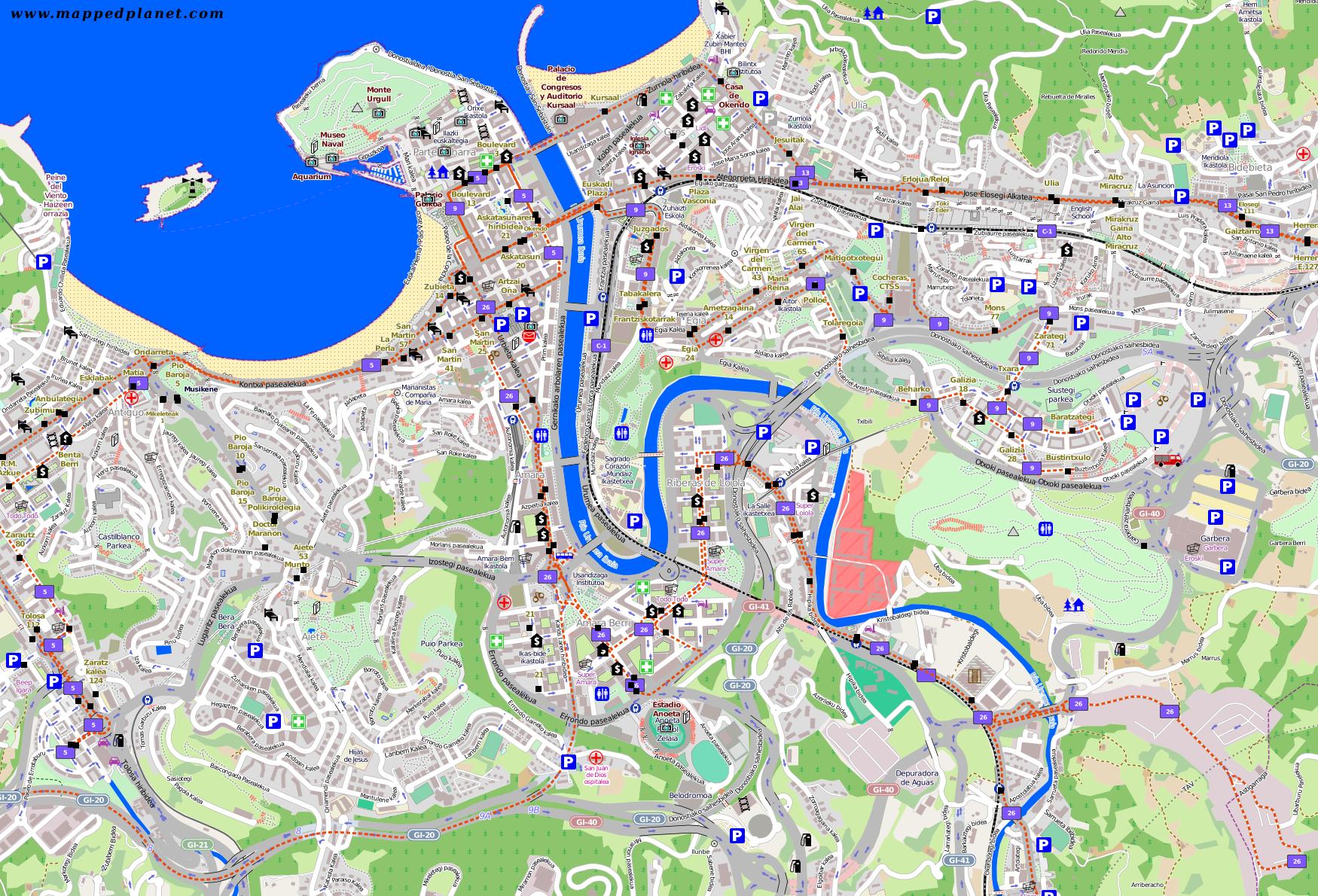 San Sebastian Karte